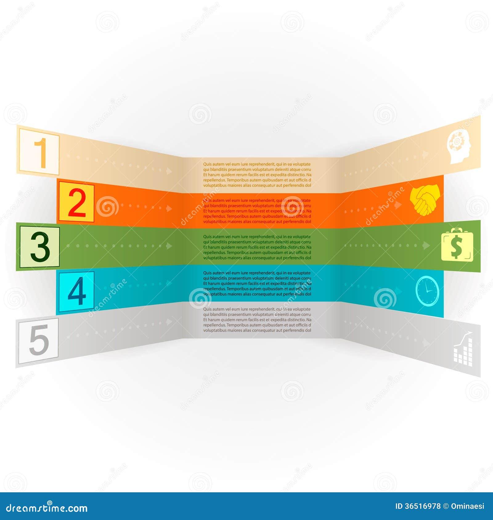 Bannière d options d Infographics avec le vecteur d icônes