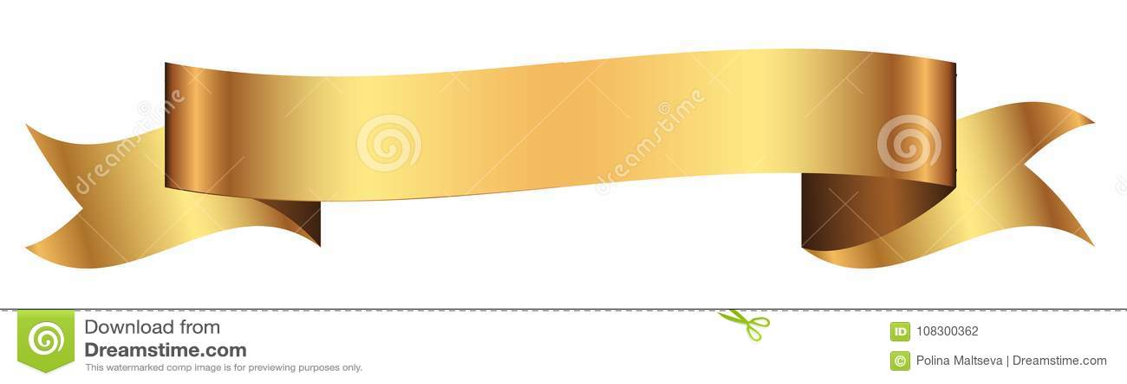 Bannière d or pour la conception dans le vecteur