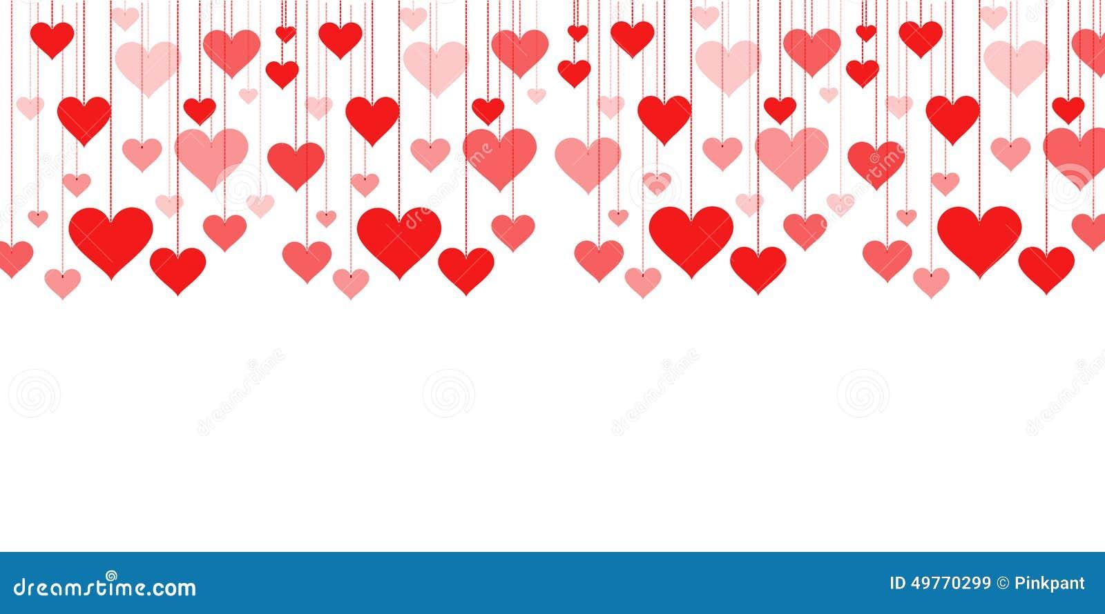 Super Bannière D'une Guirlande De Saint-Valentin De Fond De Coeurs  GC24