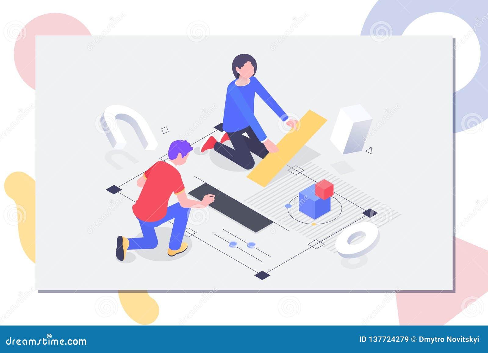 Bannière de concept de travail d équipe Peut employer pour la bannière de Web, infographics, images de héros