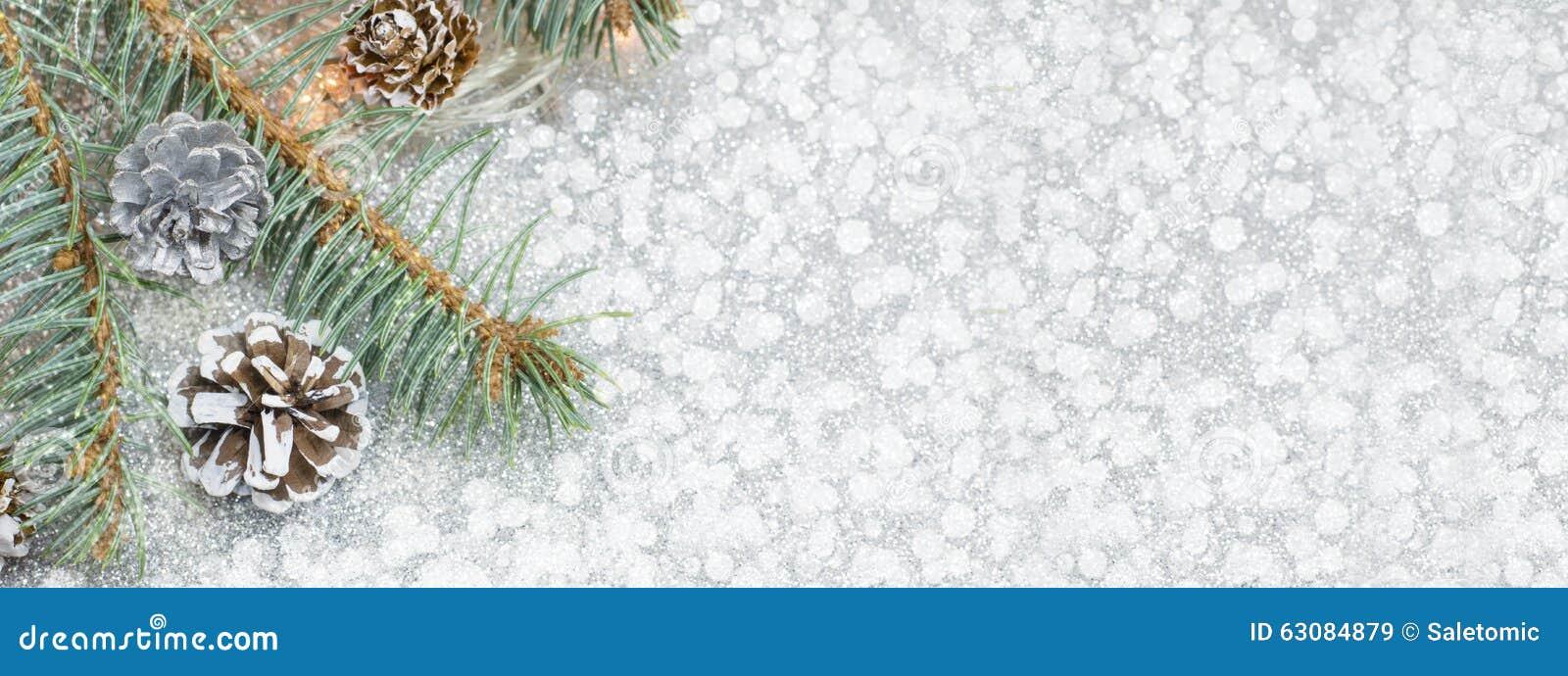 Download Bannière De Décoration De Noël Dans La Résolution 8 X 3 Image stock - Image du lumineux, cônes: 63084879