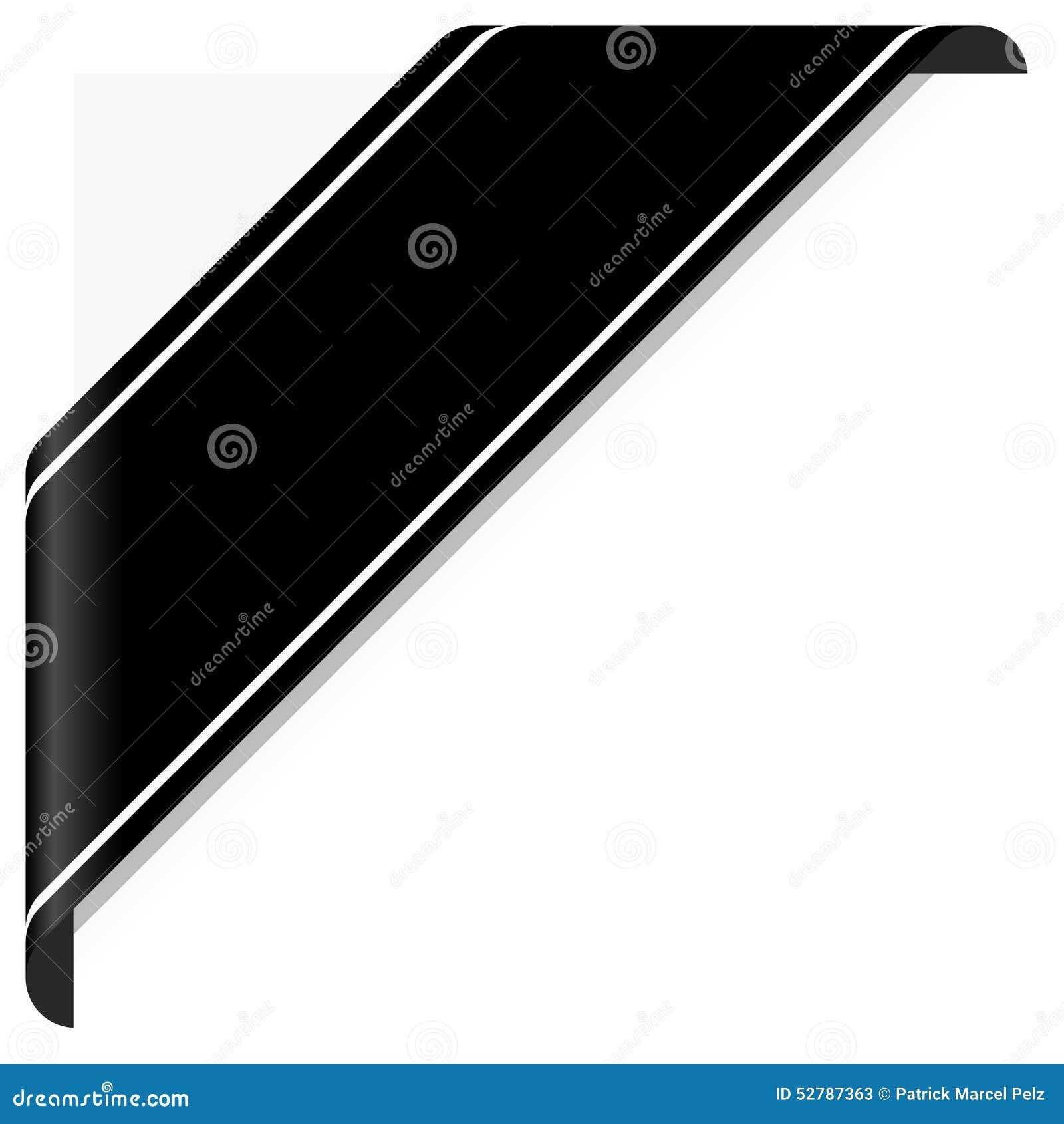 Meilleur de tous Bannière de deuil noire illustration de vecteur. Illustration du  VE55