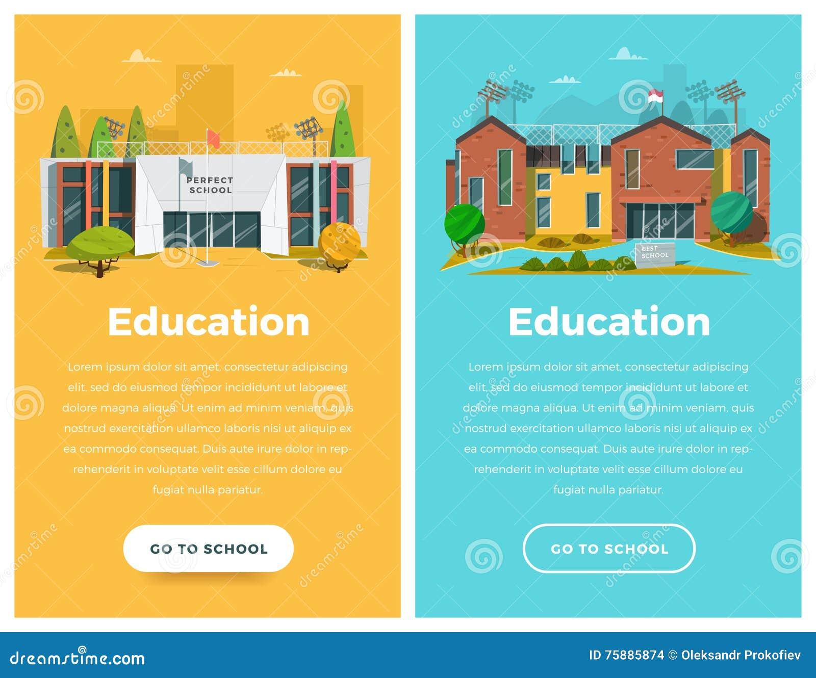 Bannière de deux verticales pour le web design