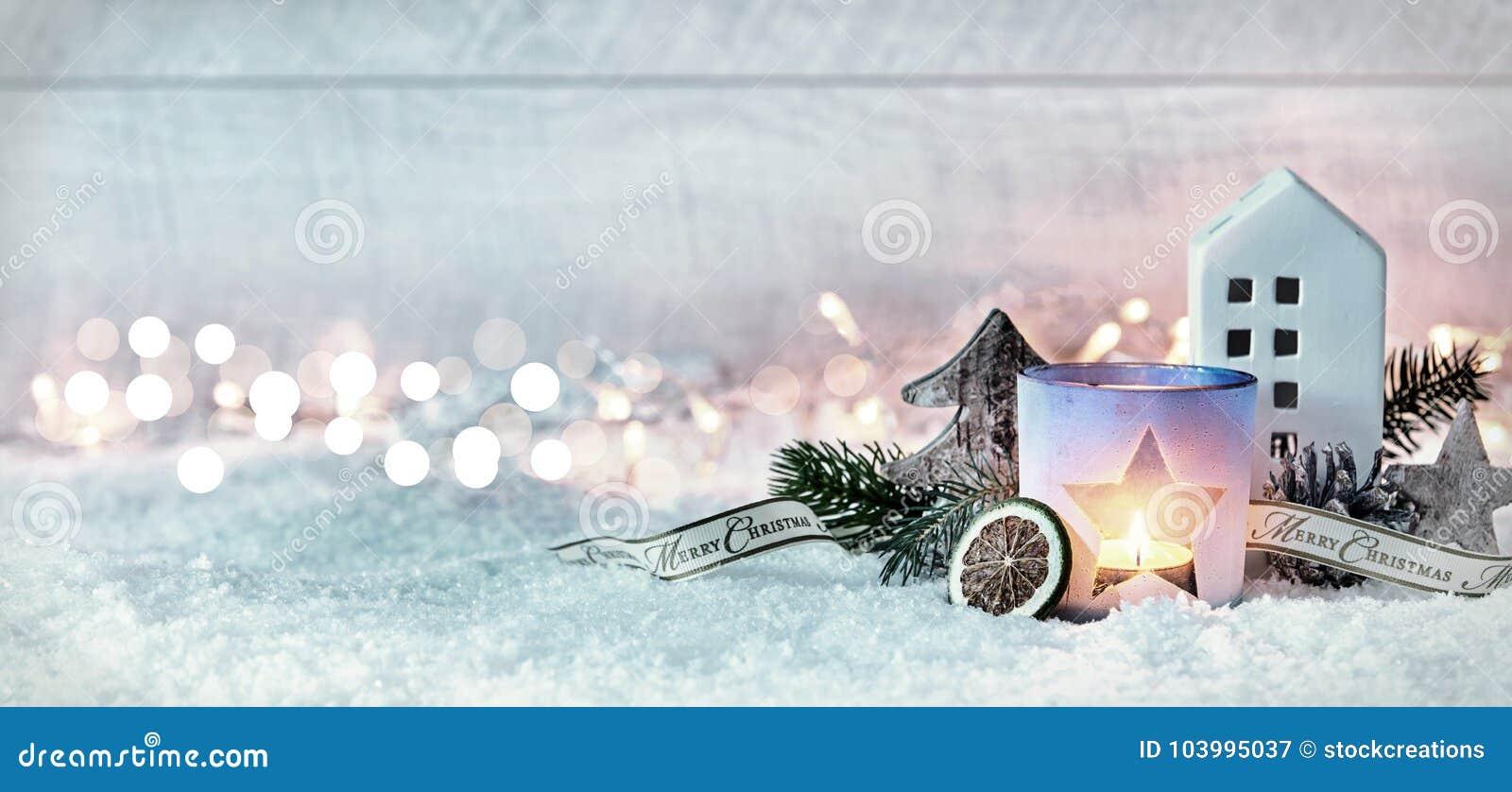 Bannière de fête hivernale de panorama de Joyeux Noël