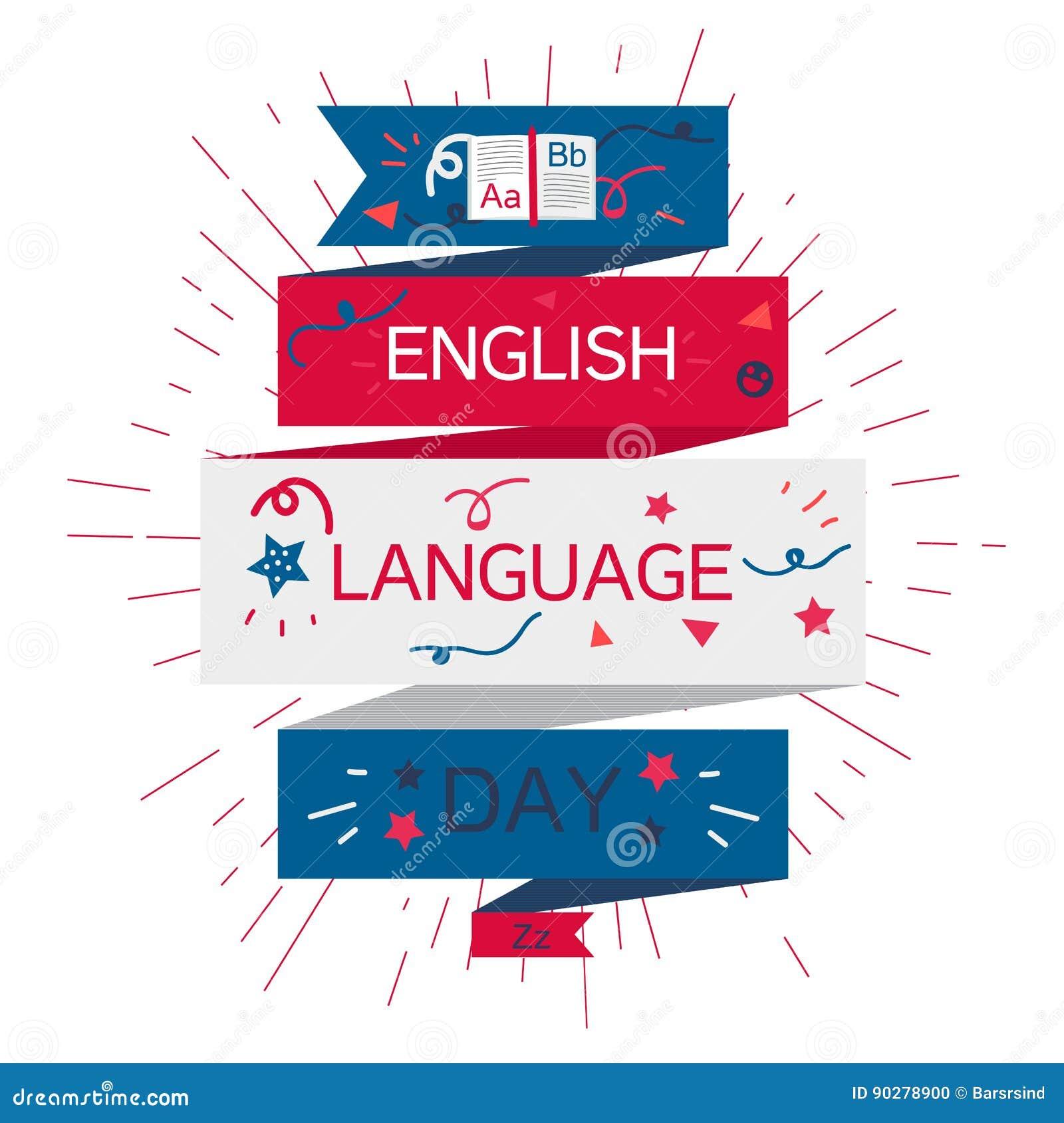 Bannière de jour d anglais