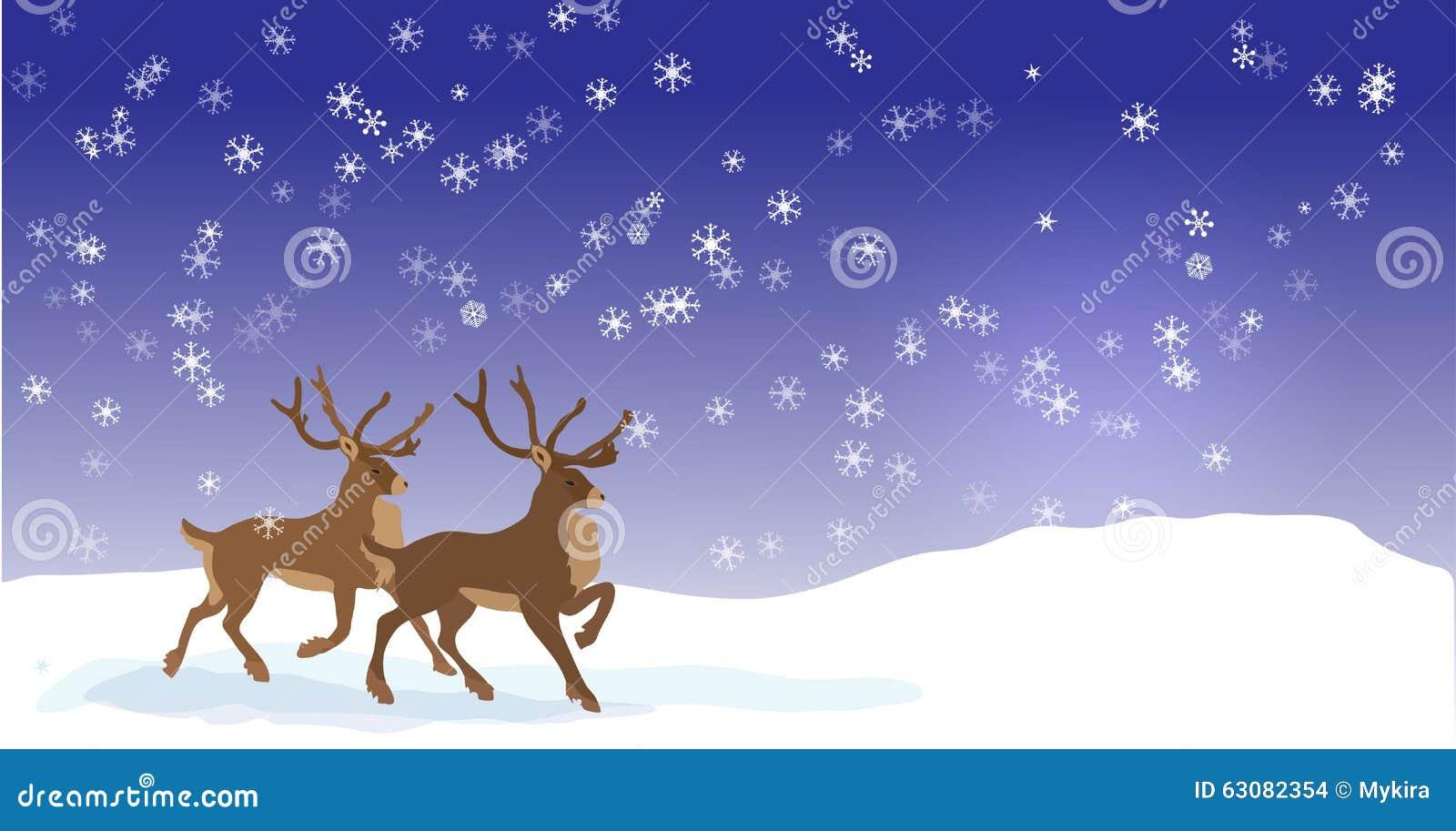 Download Bannière De Noël Avec Des Rennes De Vecteur Illustration de Vecteur - Illustration du harnais, carte: 63082354