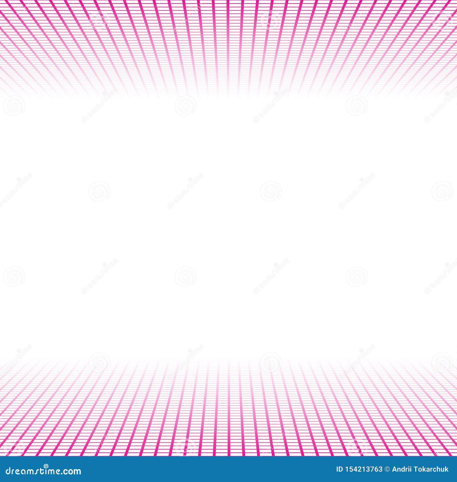 Bannière de perspective faite de tuiles roses de places