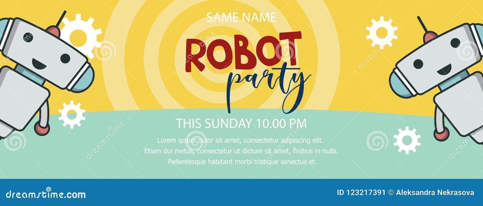 Bannière de promo de partie de robot