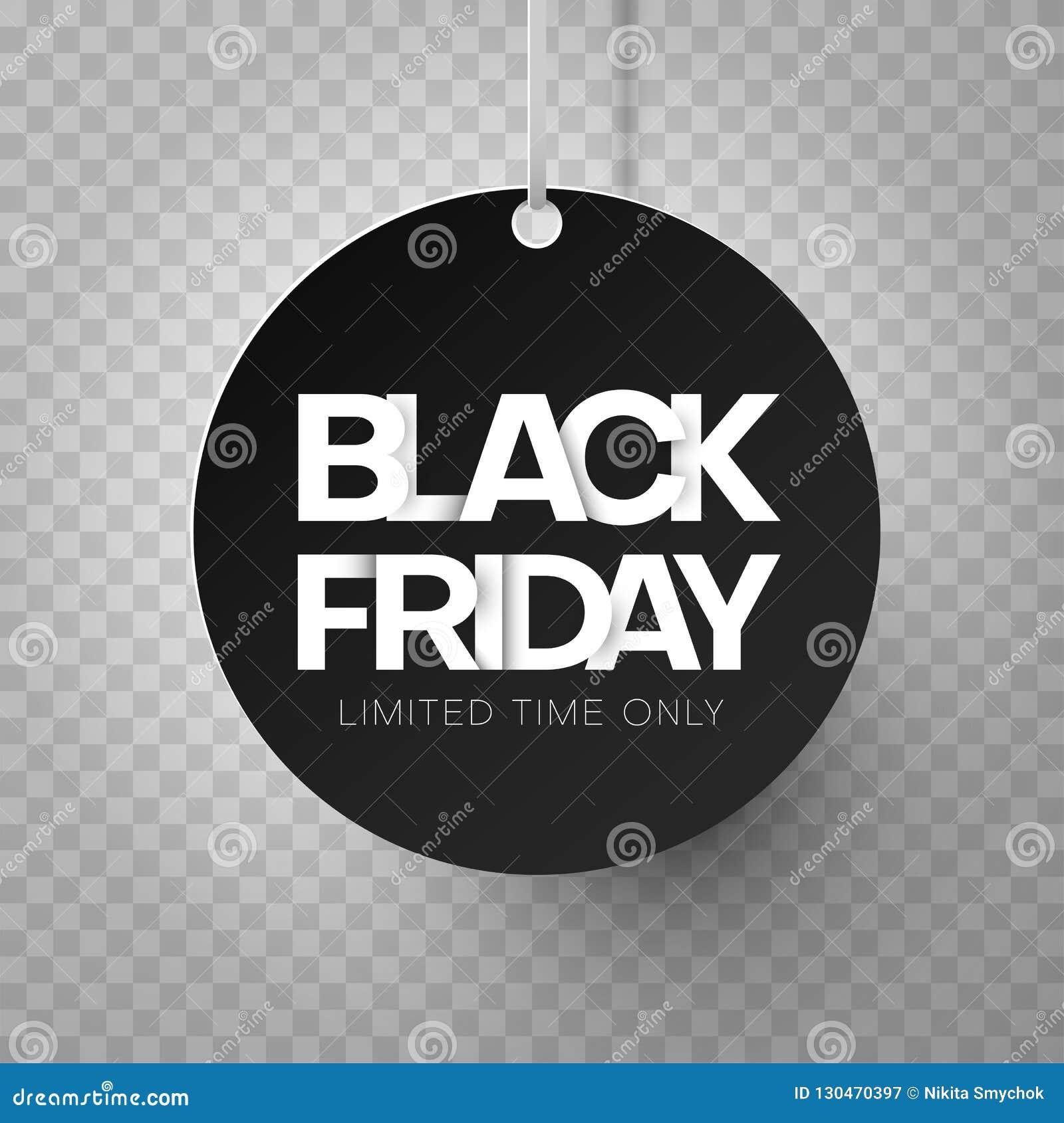 Bannière de tournée de Black Friday sur le fond transparent