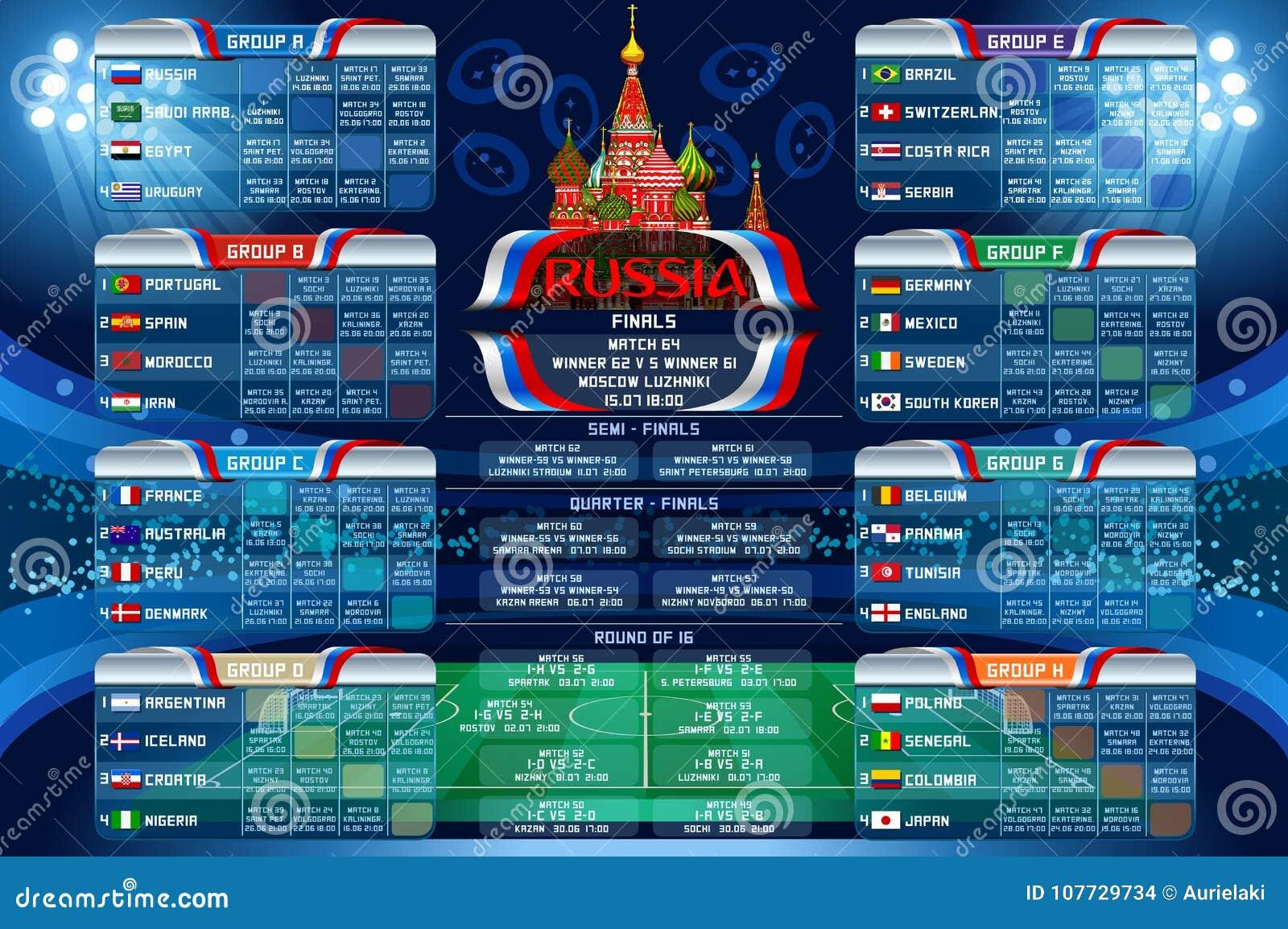 Coupe Du Monde De Football Calendrier.Banniere De Web De Calendrier De Coupe Du Monde De La Russie