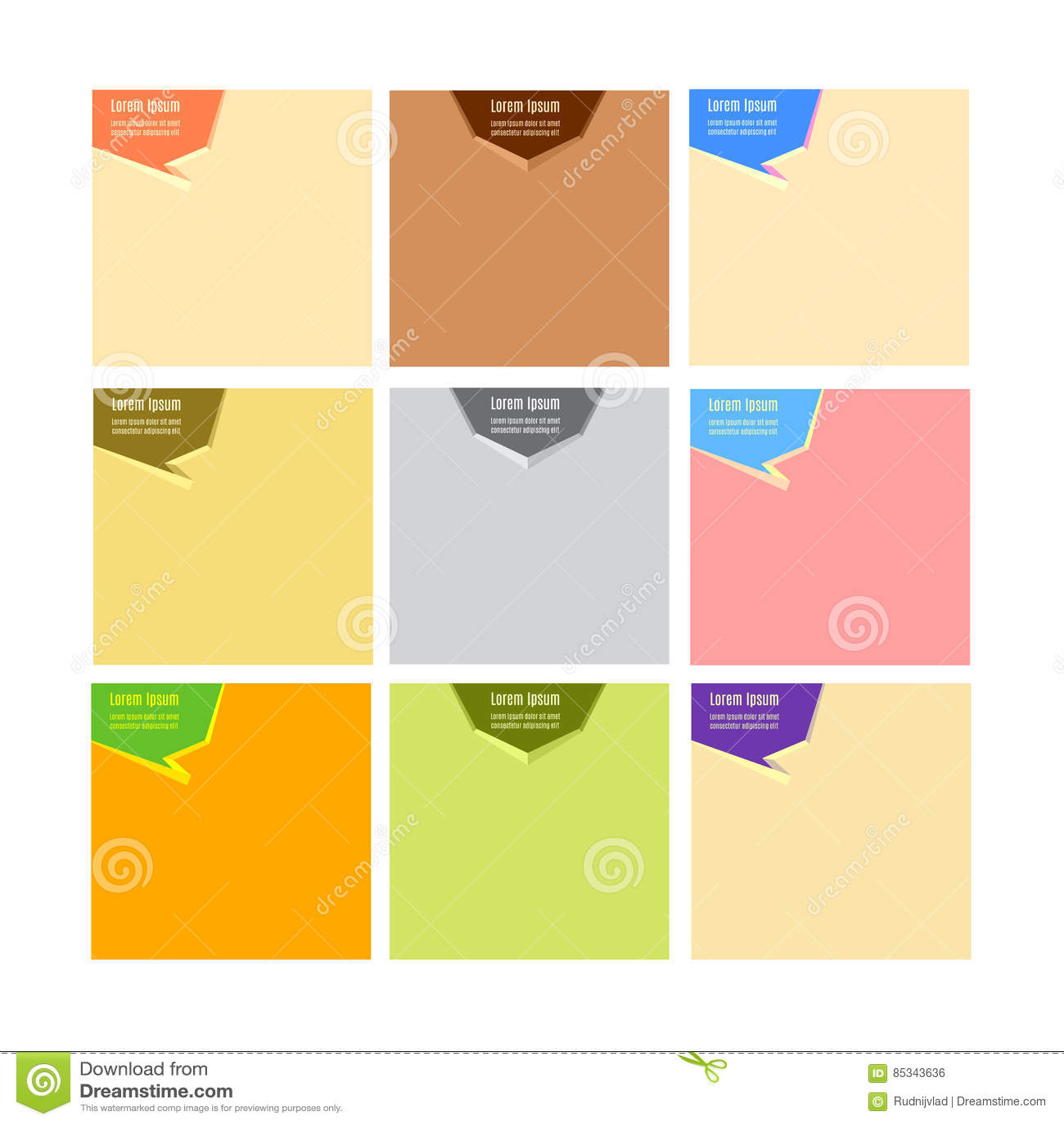 Bannière de Web, calibre de disposition d en-tête