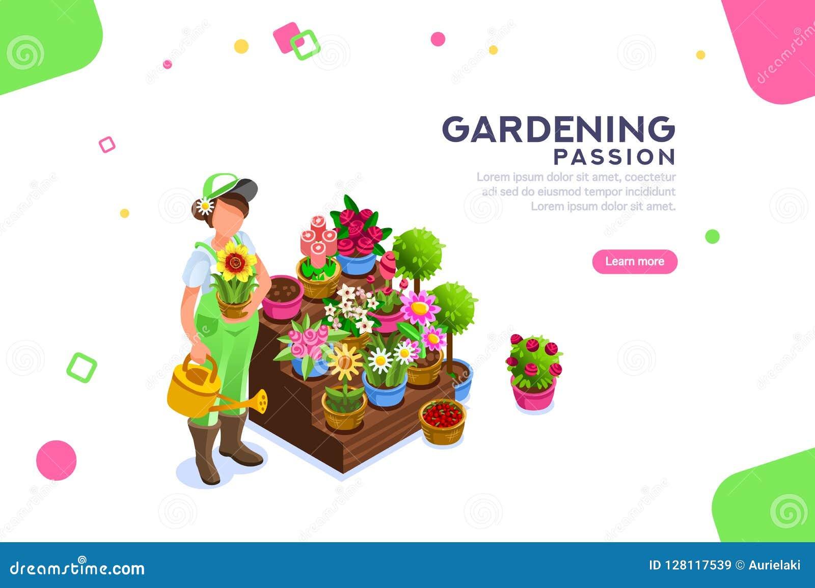 Bannière Editable de Seasonal Market Female de fleuriste
