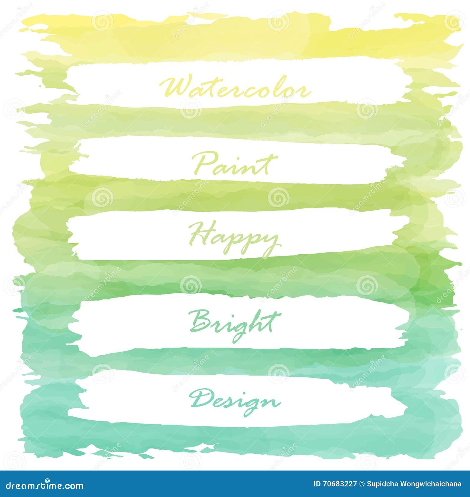 Banniere En Pastel De Peinture D Amour Vert Jaune Clair Illustration De Vecteur Illustration Du Jaune Pastel 70683227