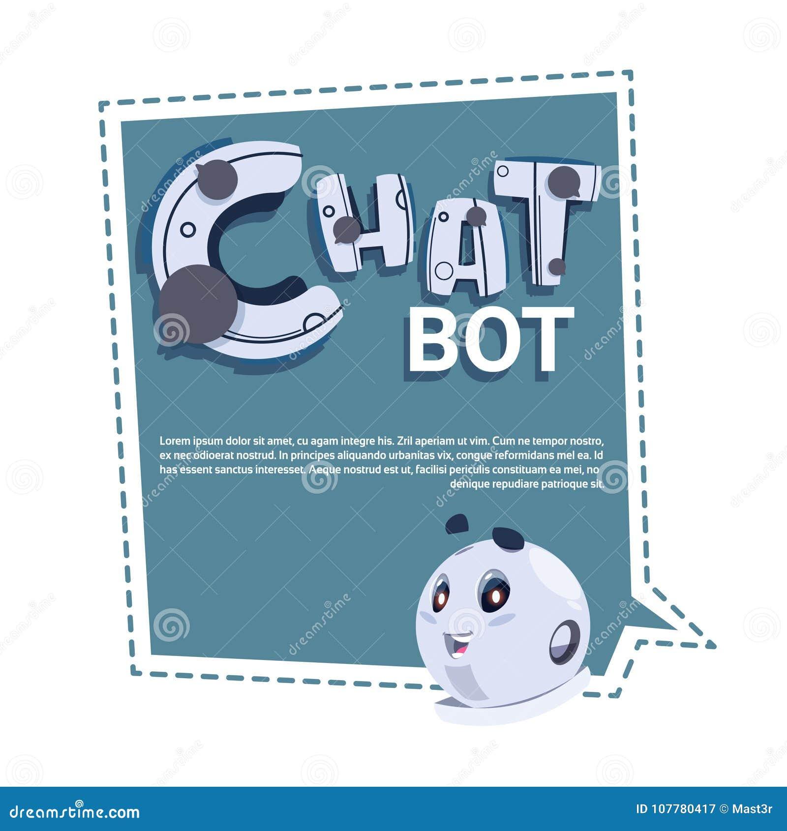 Bannière mignonne de calibre de robot de Bot de causerie avec l espace de copie, le broutement ou le concept de service de suppor