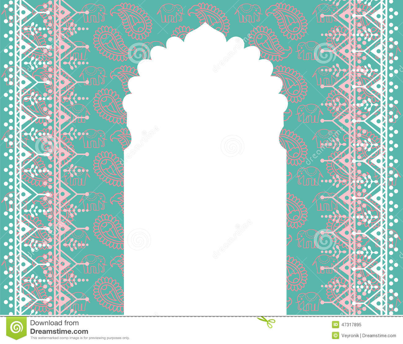 Banni re orientale de porte de temple illustration stock for Fenetre orientale