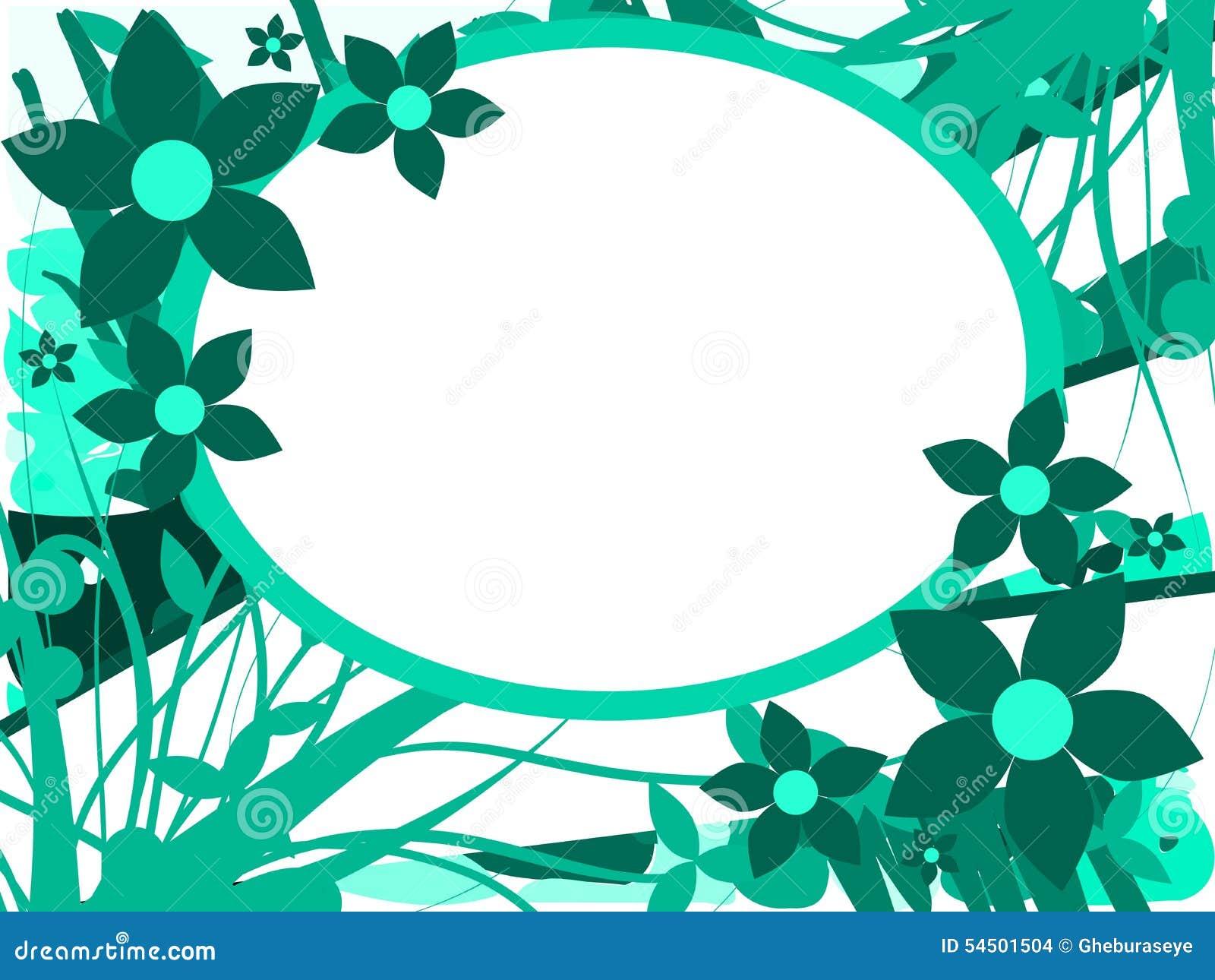 Bannière sur le fond floral abstrait d isolement