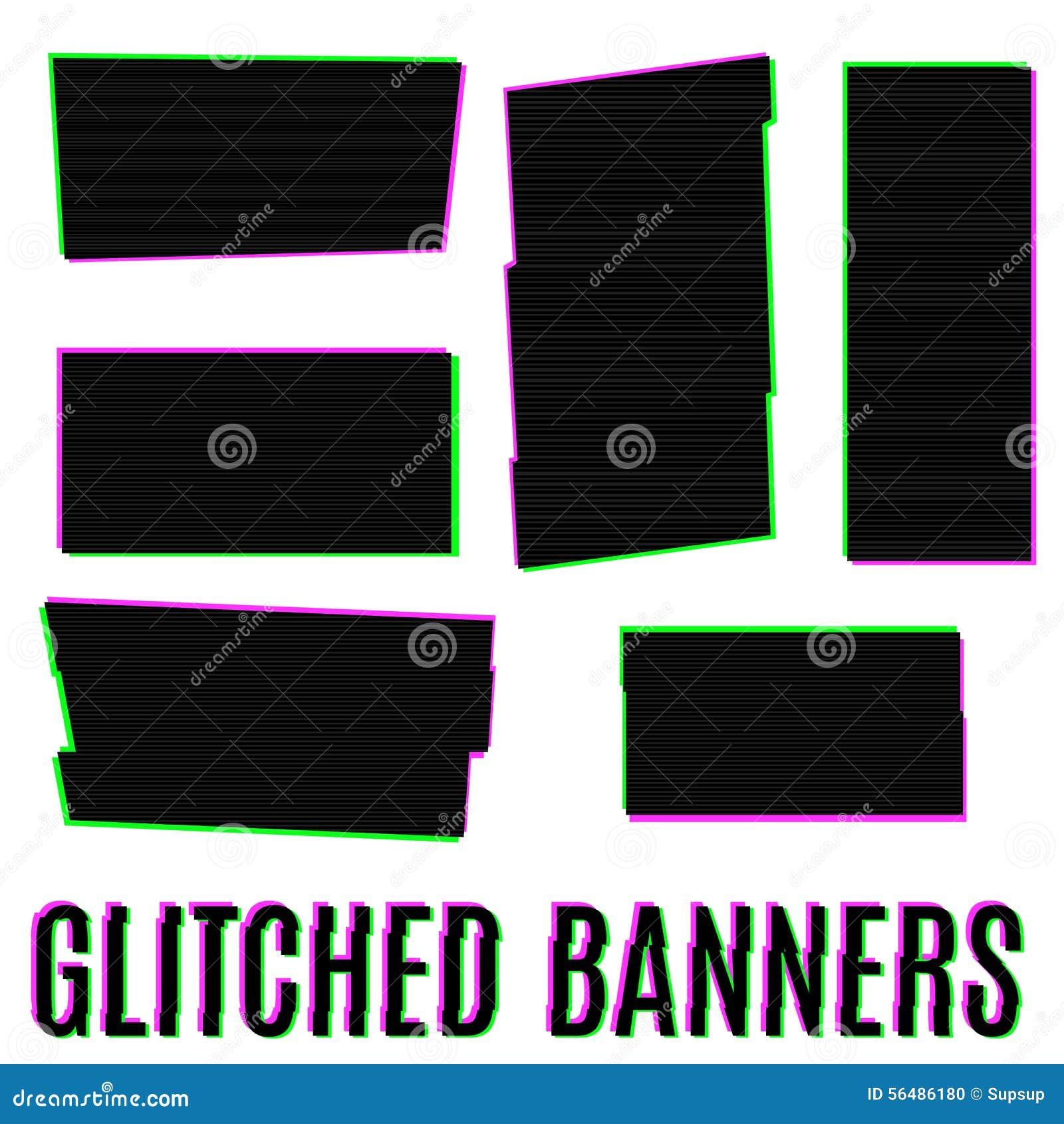 Bannières de Glitched