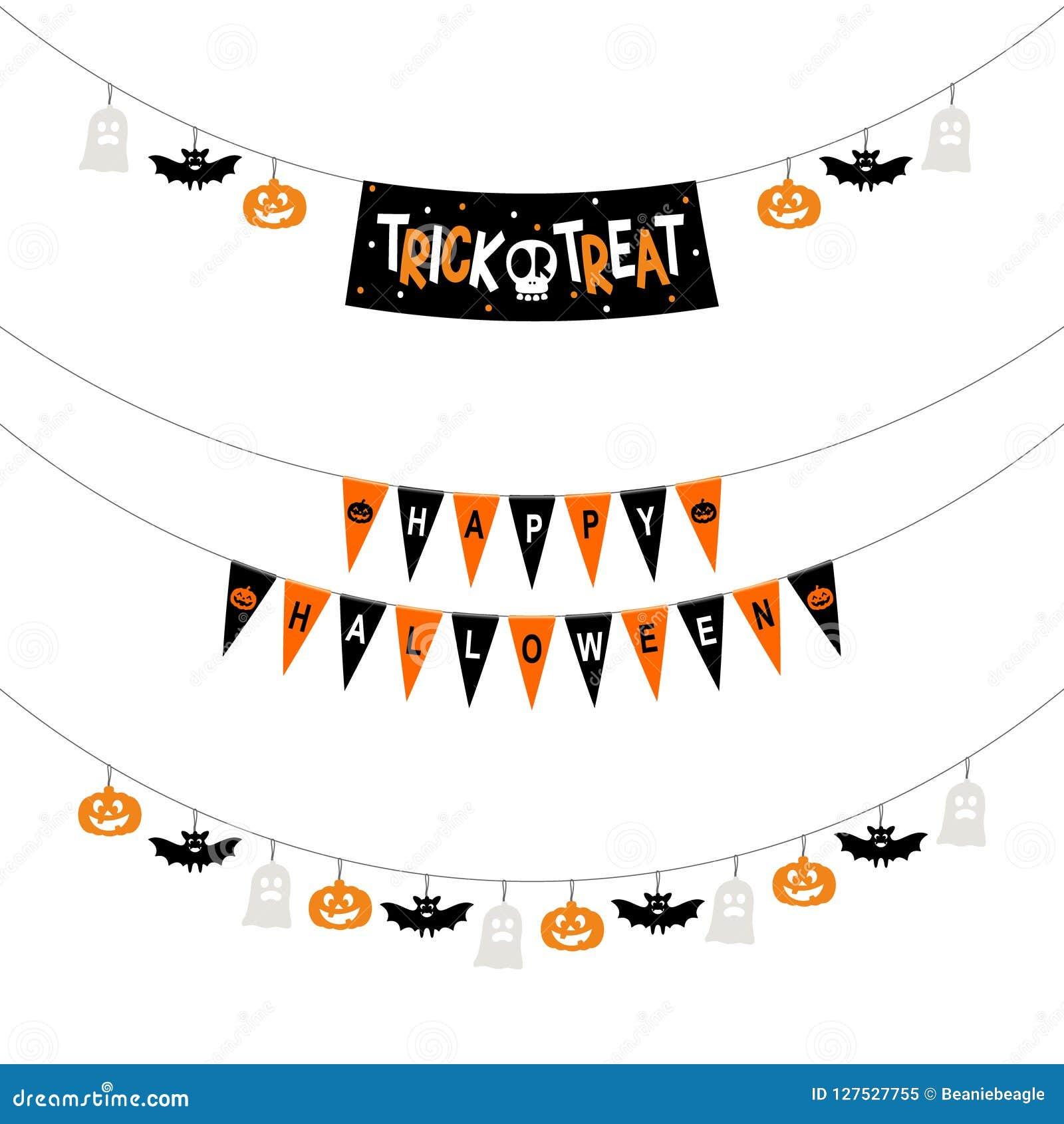 Bannières de partie de Halloween