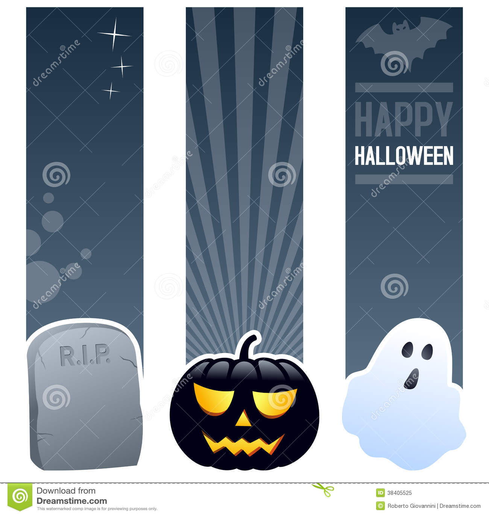 Bannières de verticale de Halloween