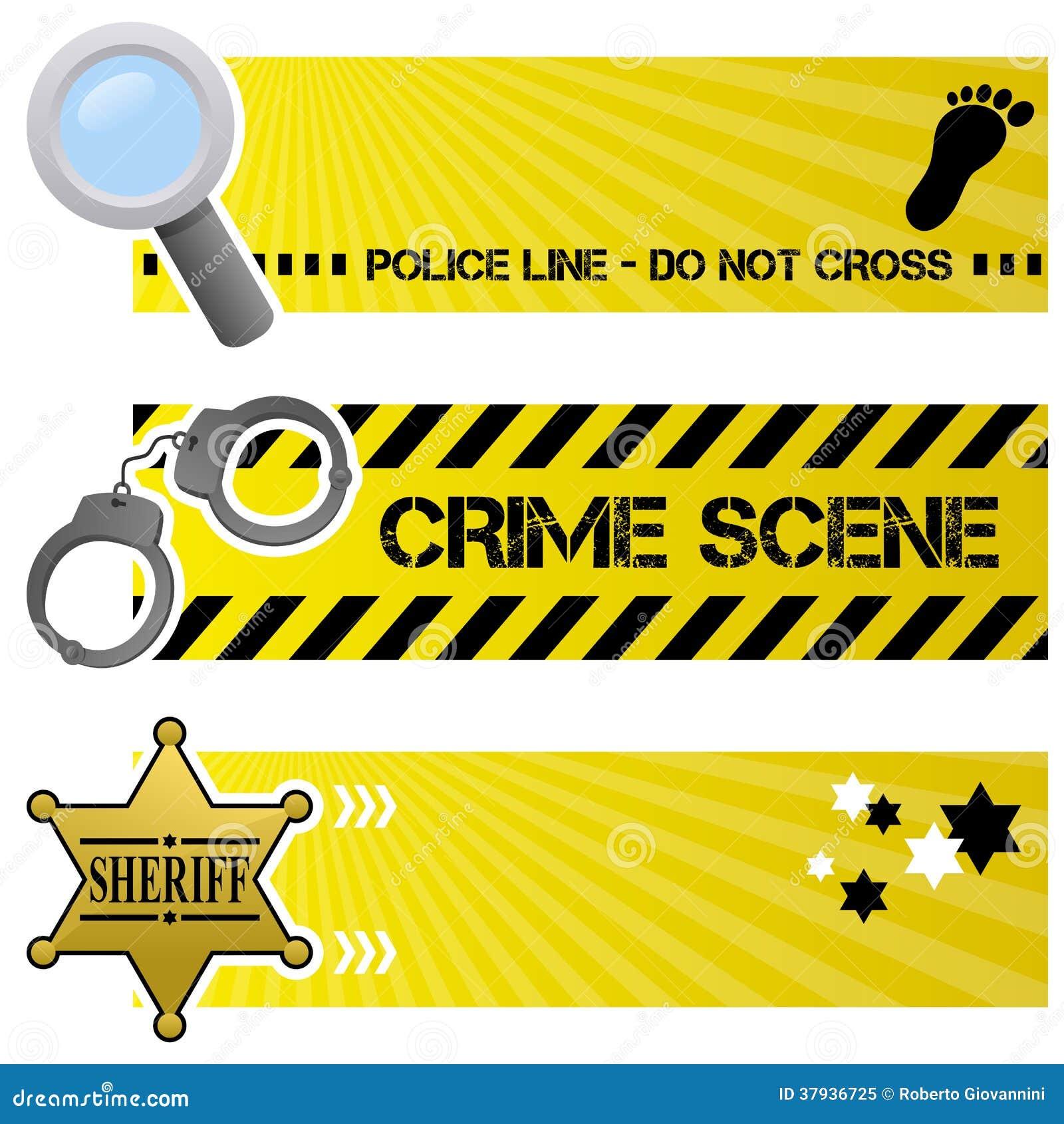 Bannières horizontales de police et d ordre