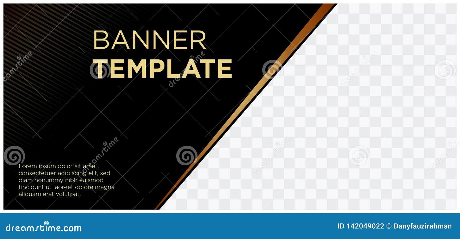 Bannières noires et société landscape-06 commercial de site Web d en-tête d or