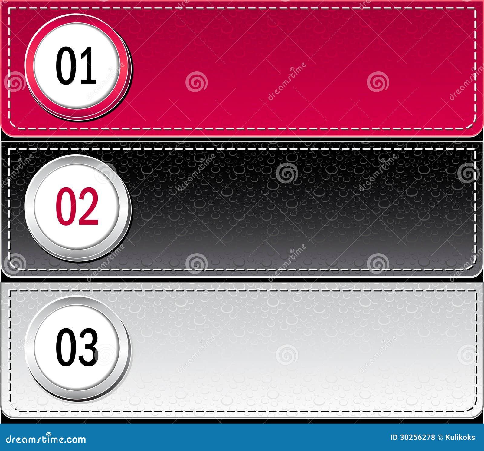 Bannières ou calibre modernes réglées d infographics