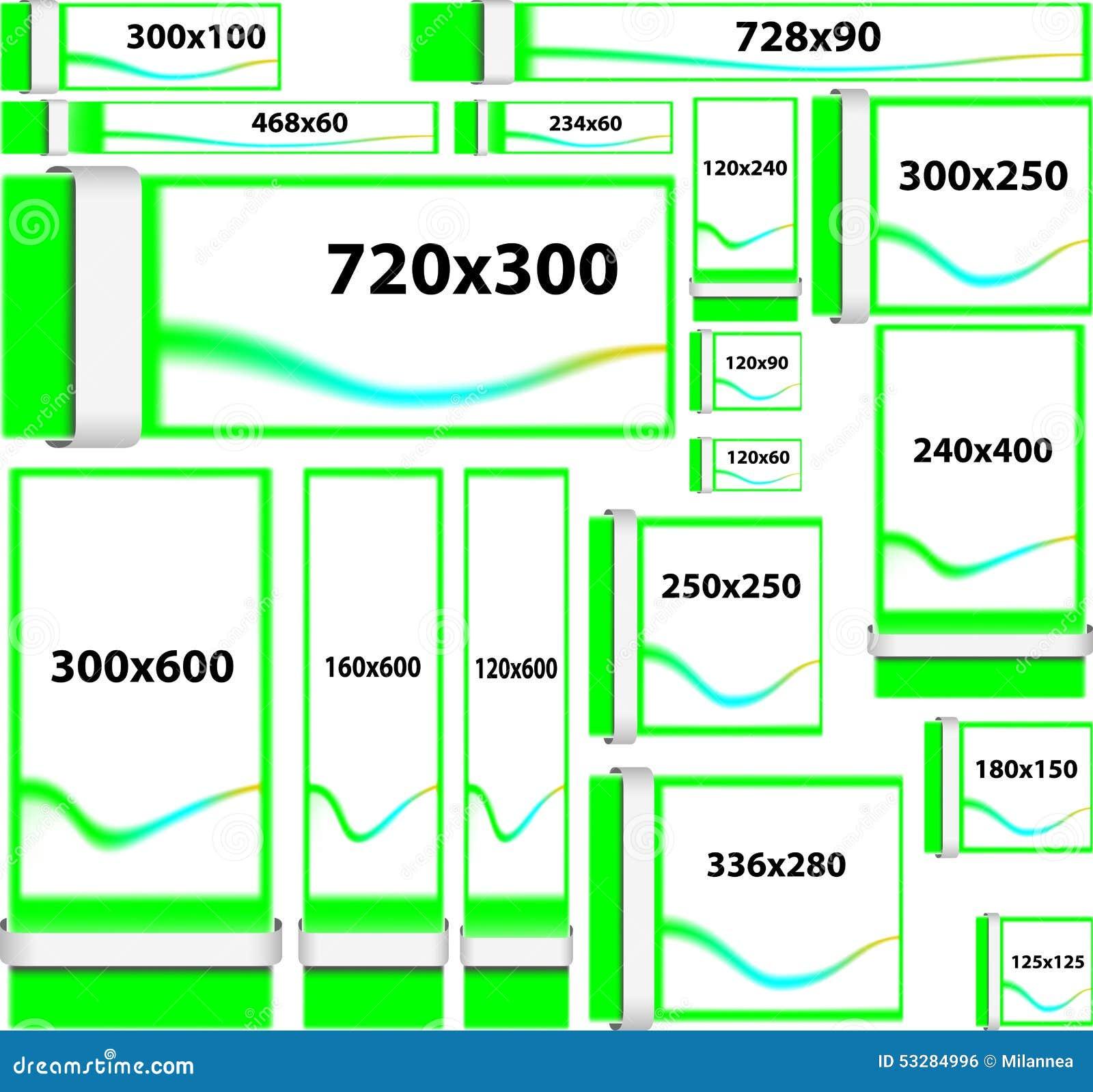 banni res de site web de taille standard illustration de vecteur image 53284996. Black Bedroom Furniture Sets. Home Design Ideas