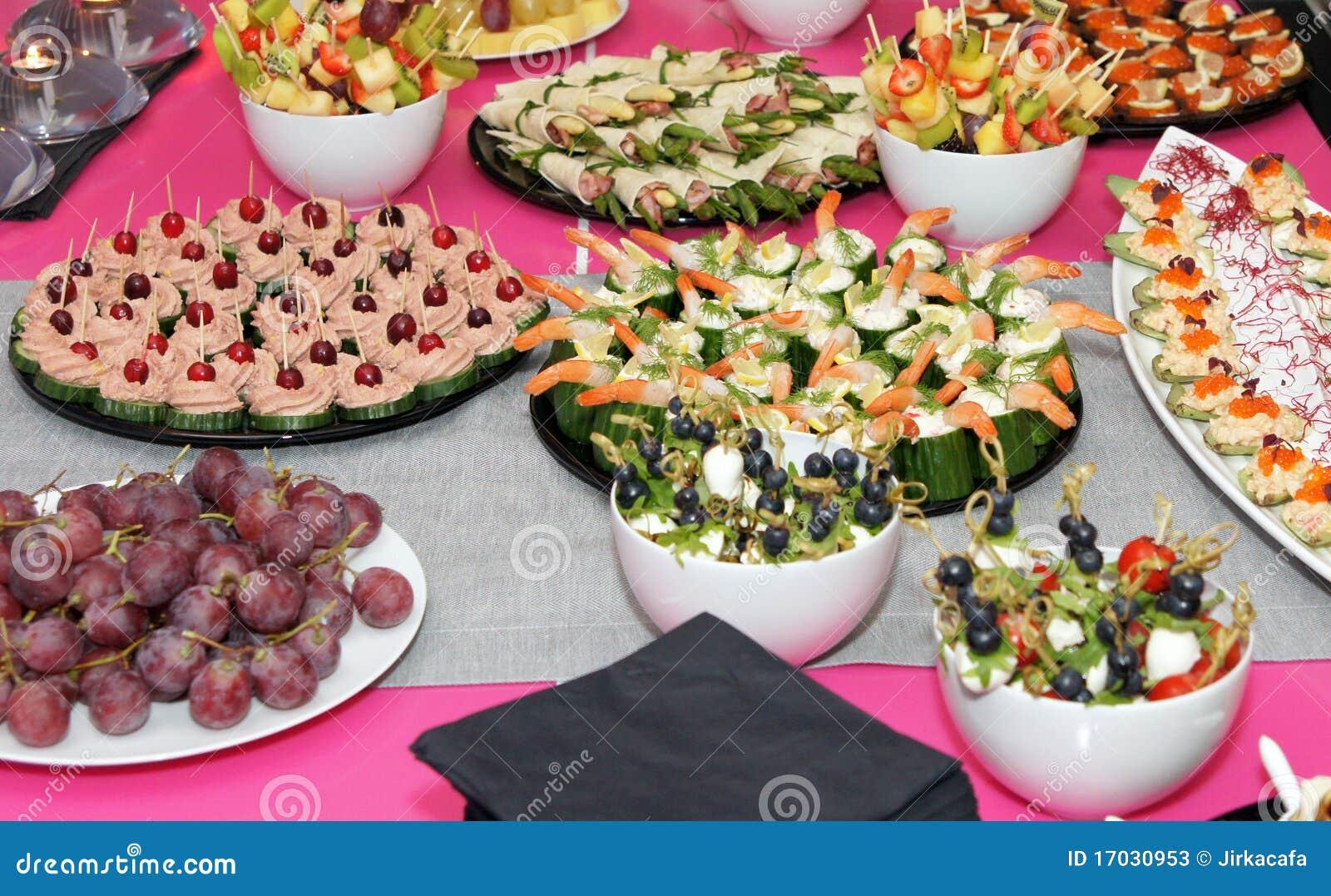 Banquet appetizing food