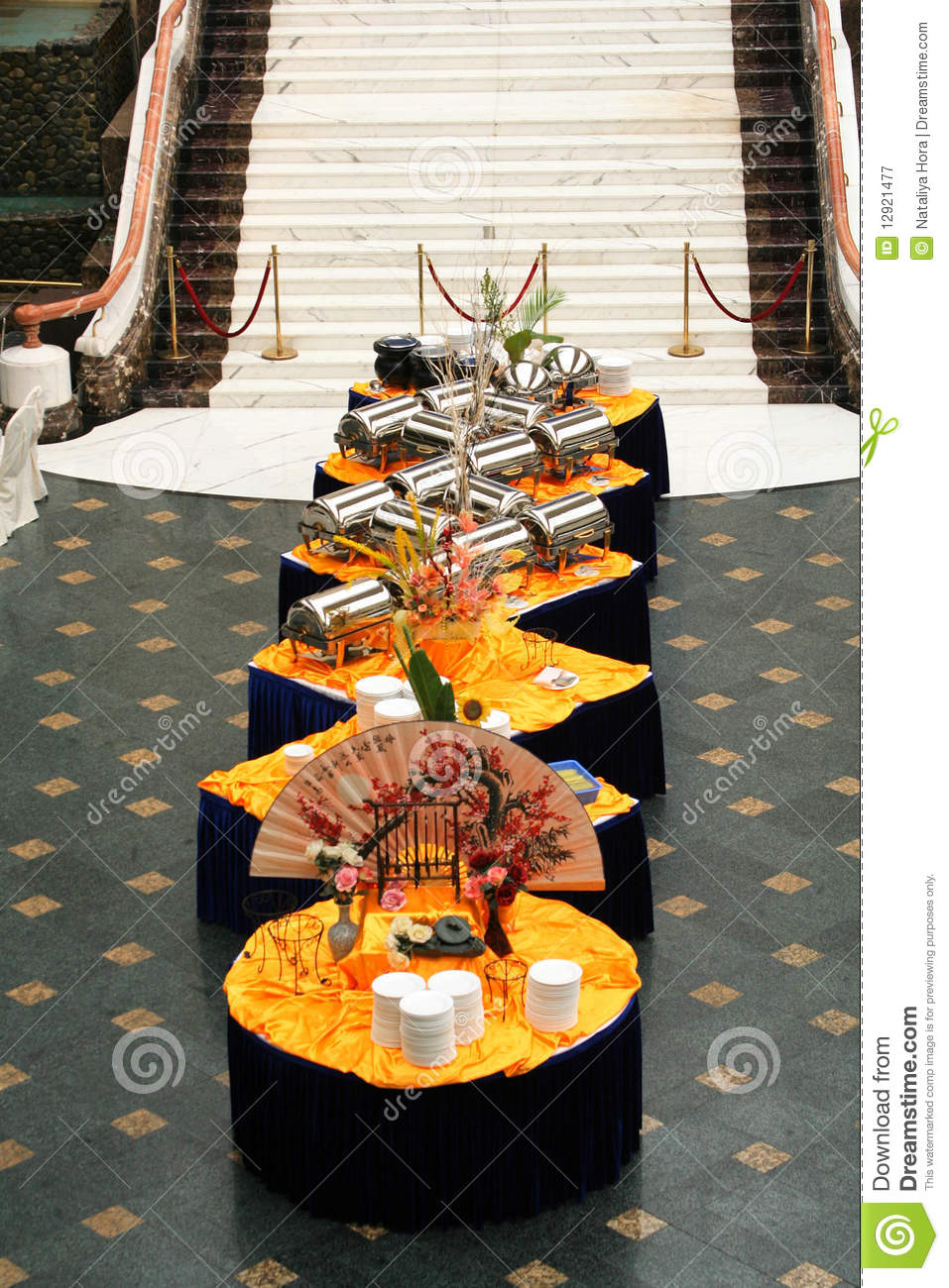 Banquet In Asian Style Royalty Free Stock Photography