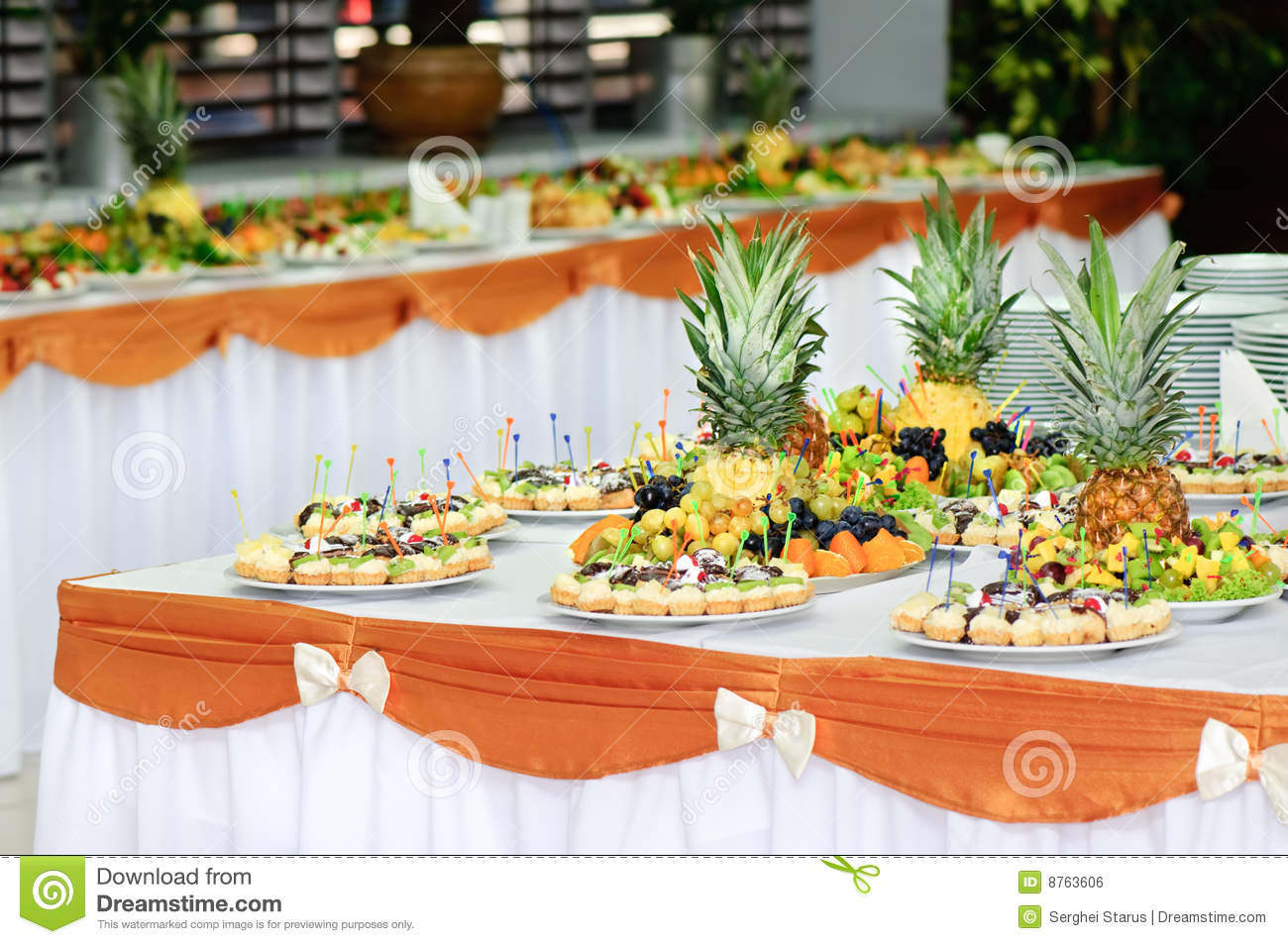 Banquet Dessert Table Stock Photo Image Of Selective