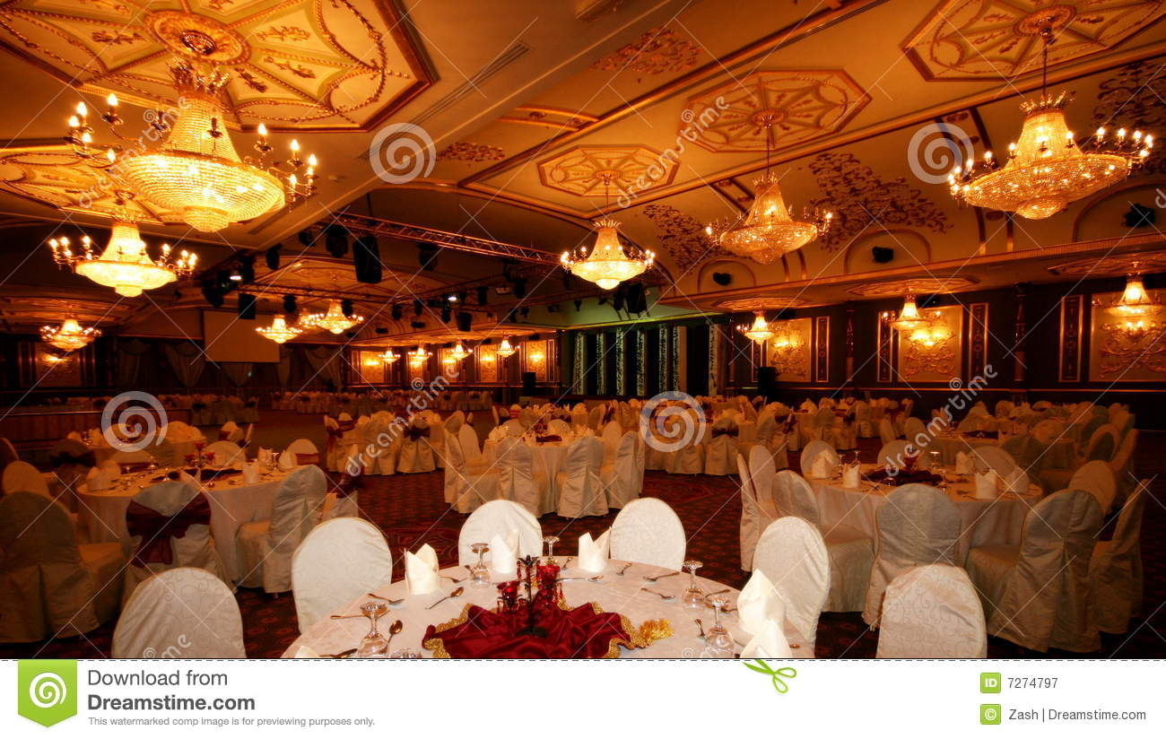 Banquet Hall Royalty Free Stock Photography - Image: 7274797 - Arabic Pool Design