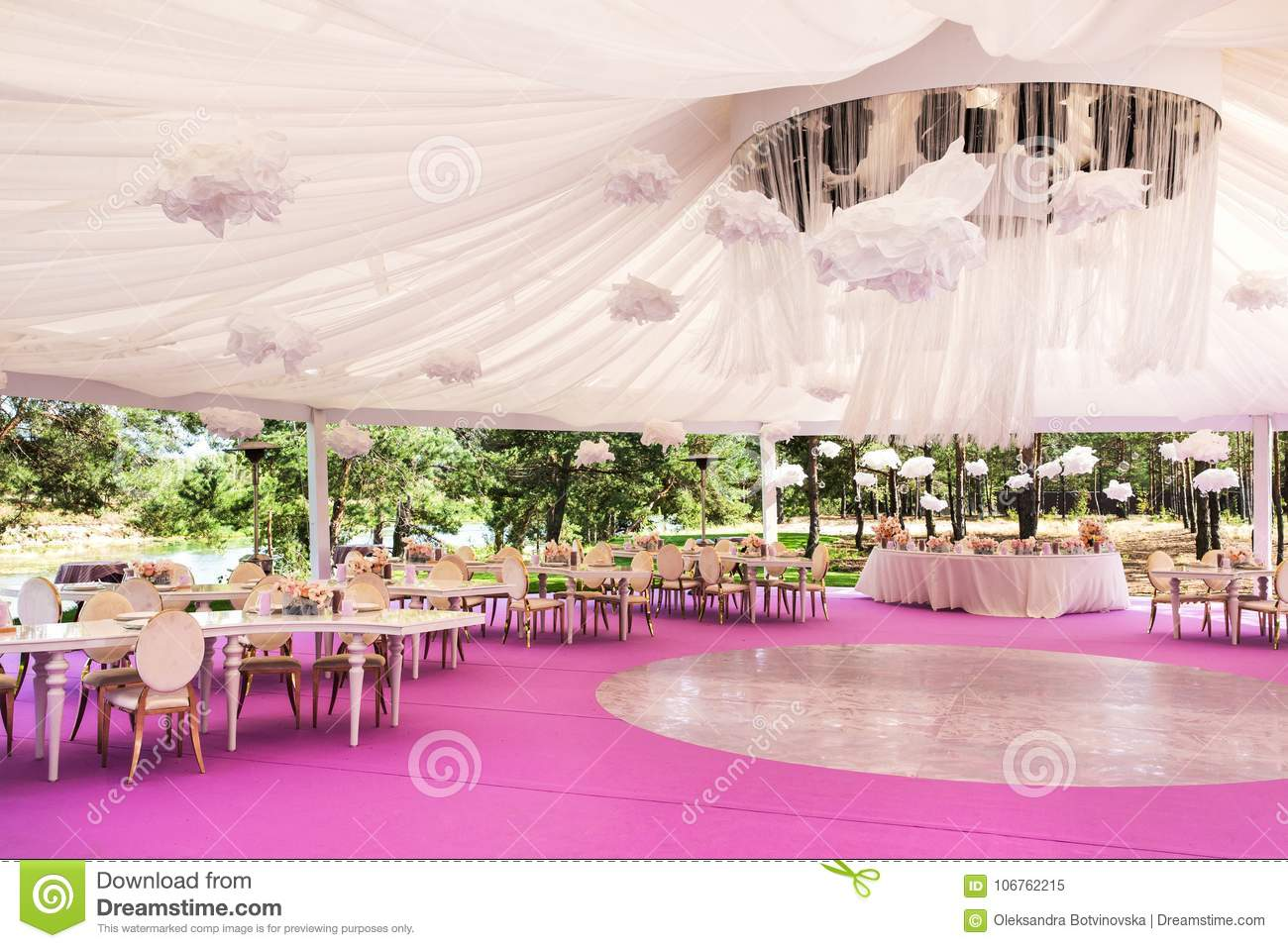 Banquet Hall For A Wedding With A White Dome Stock Image - Image of ...