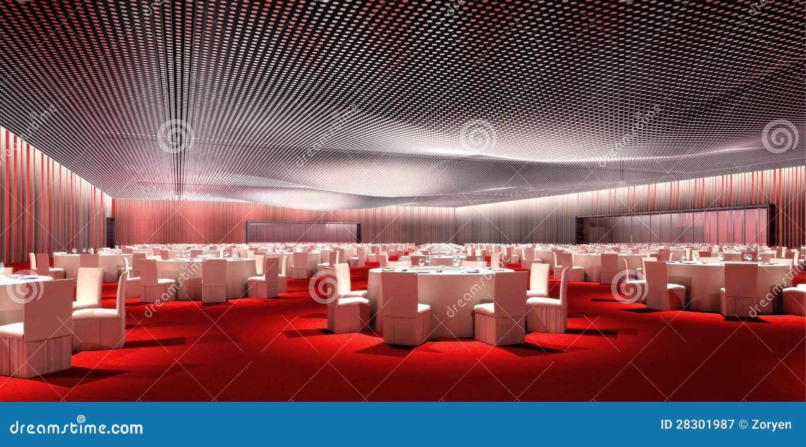 Banquet Room Stock Illustration Illustration Of Catered