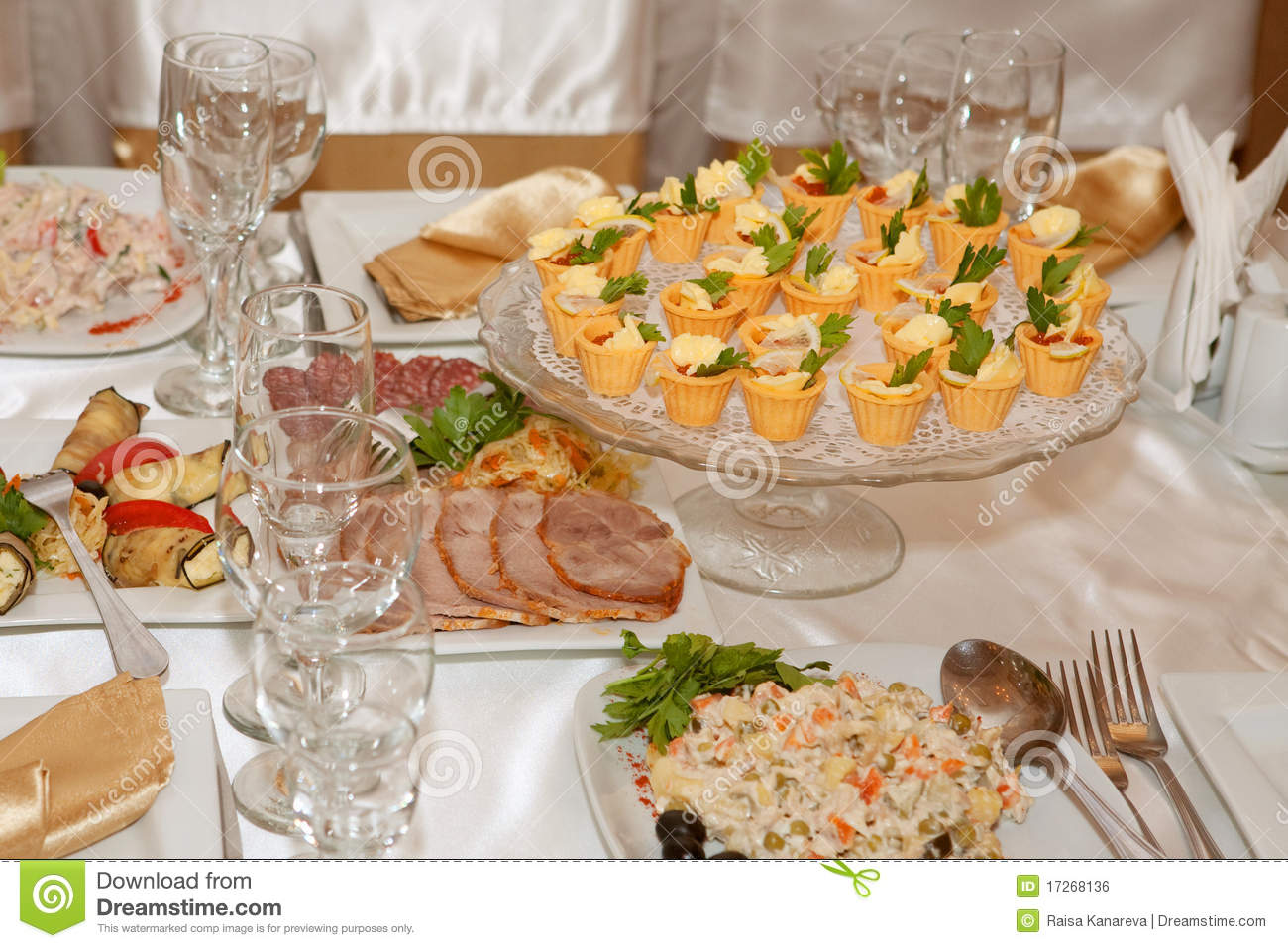 Banquet table with food stock photo. Image of banquet - 17268136