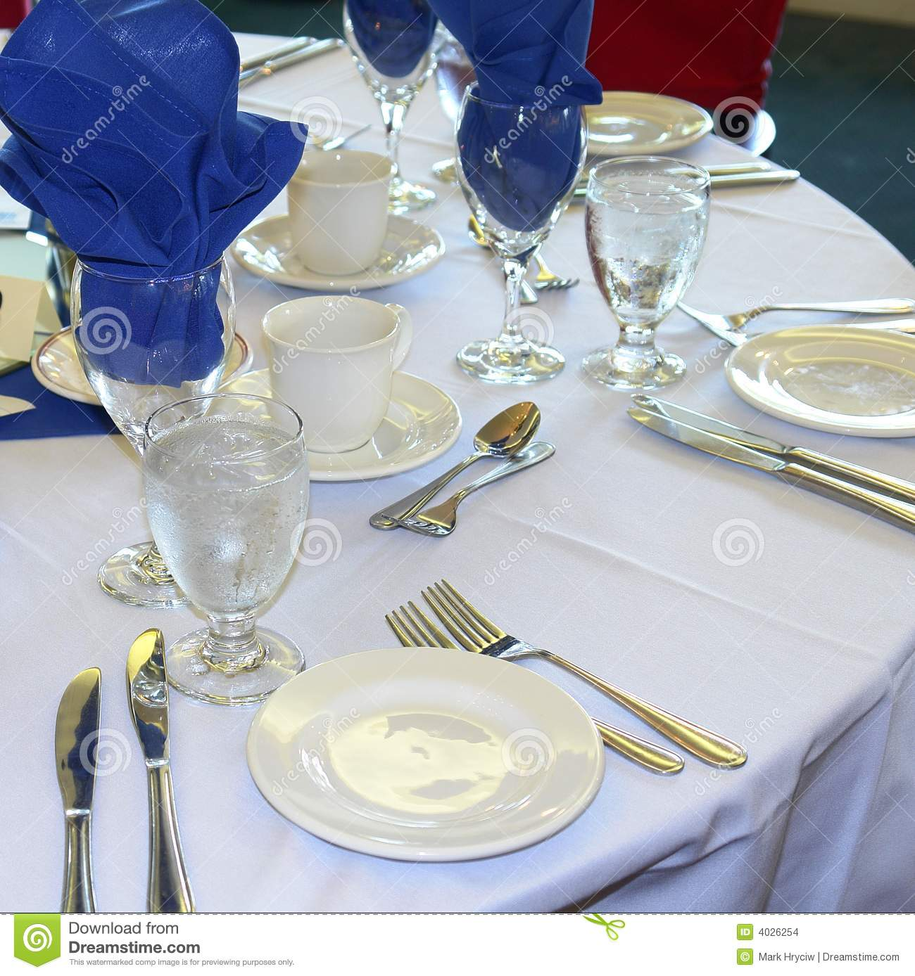 Banquet Table Formal Wedding Stock Photo Image Of