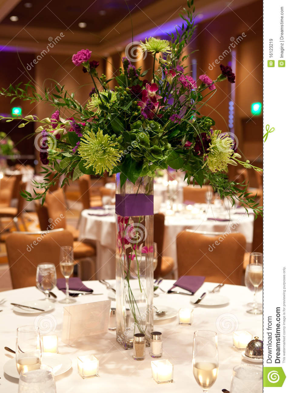 Banquet Table Setting Stock Image Image Of Event Tables