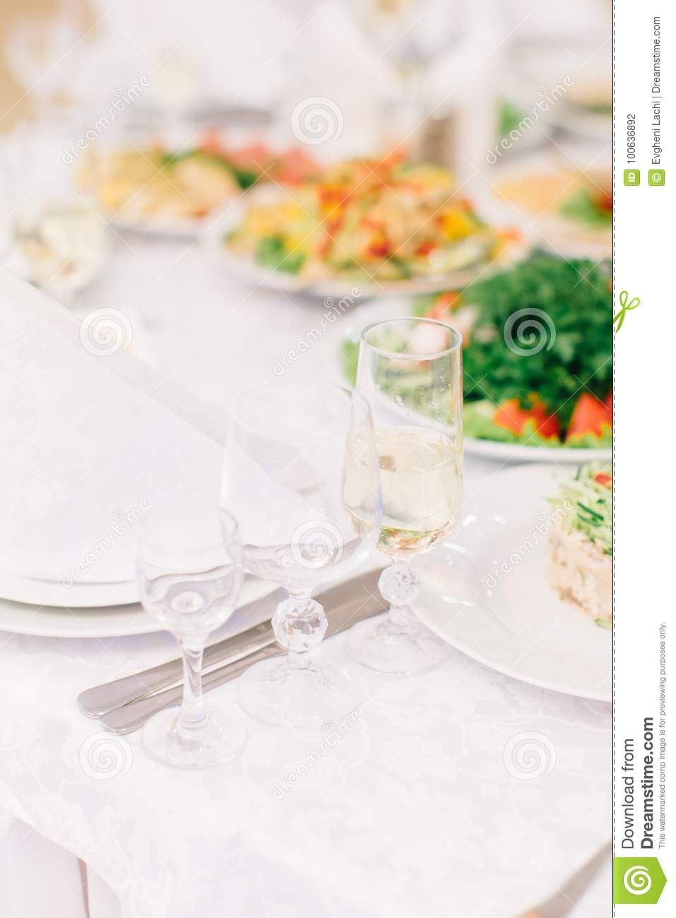 Decorated Banquet Table Setting Stock Photo Image Of Dine - Catering table setting