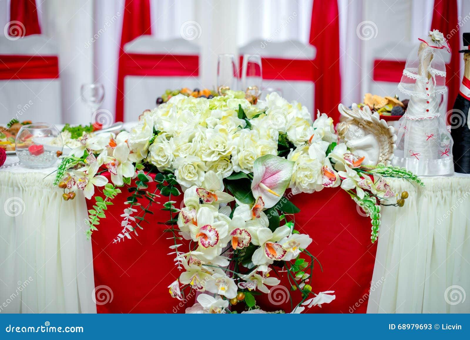 Banquete de la boda de la decoración