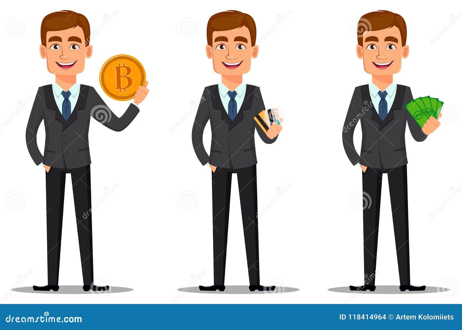 Banquier beau dans le costume