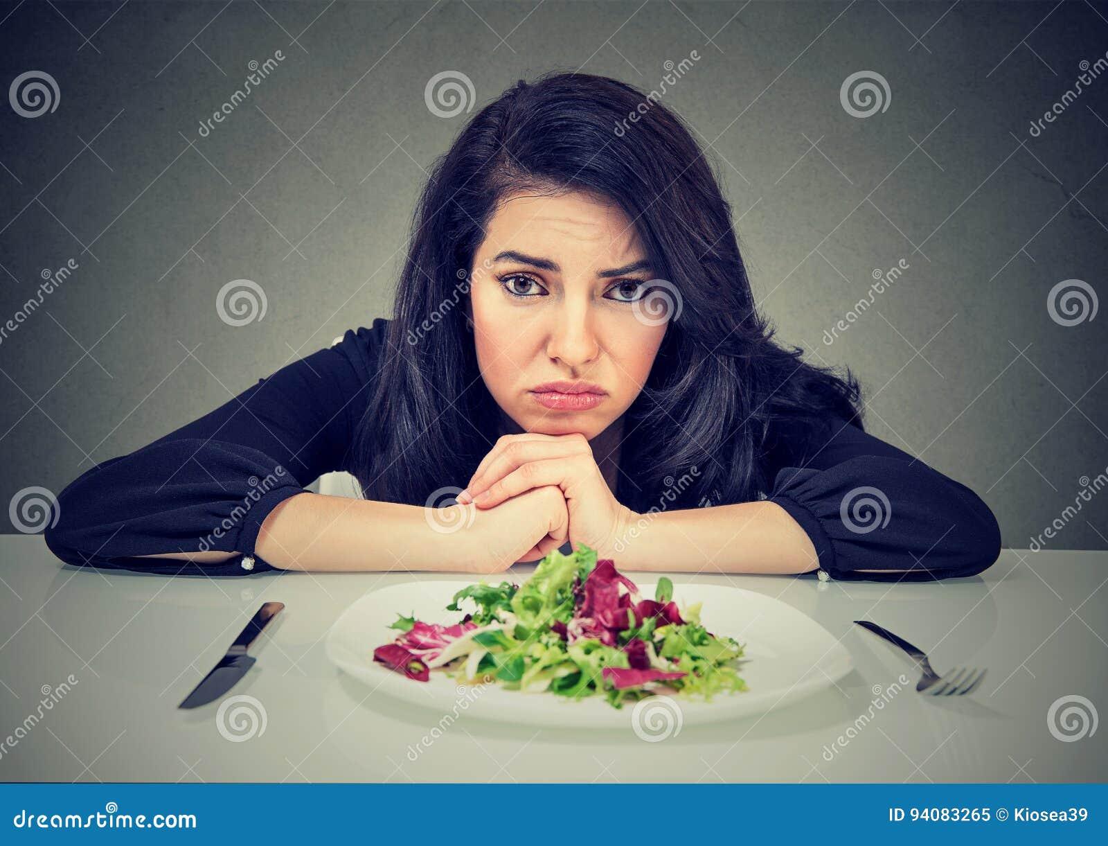 Banta vanaändringar Kvinnahatvegetarian bantar