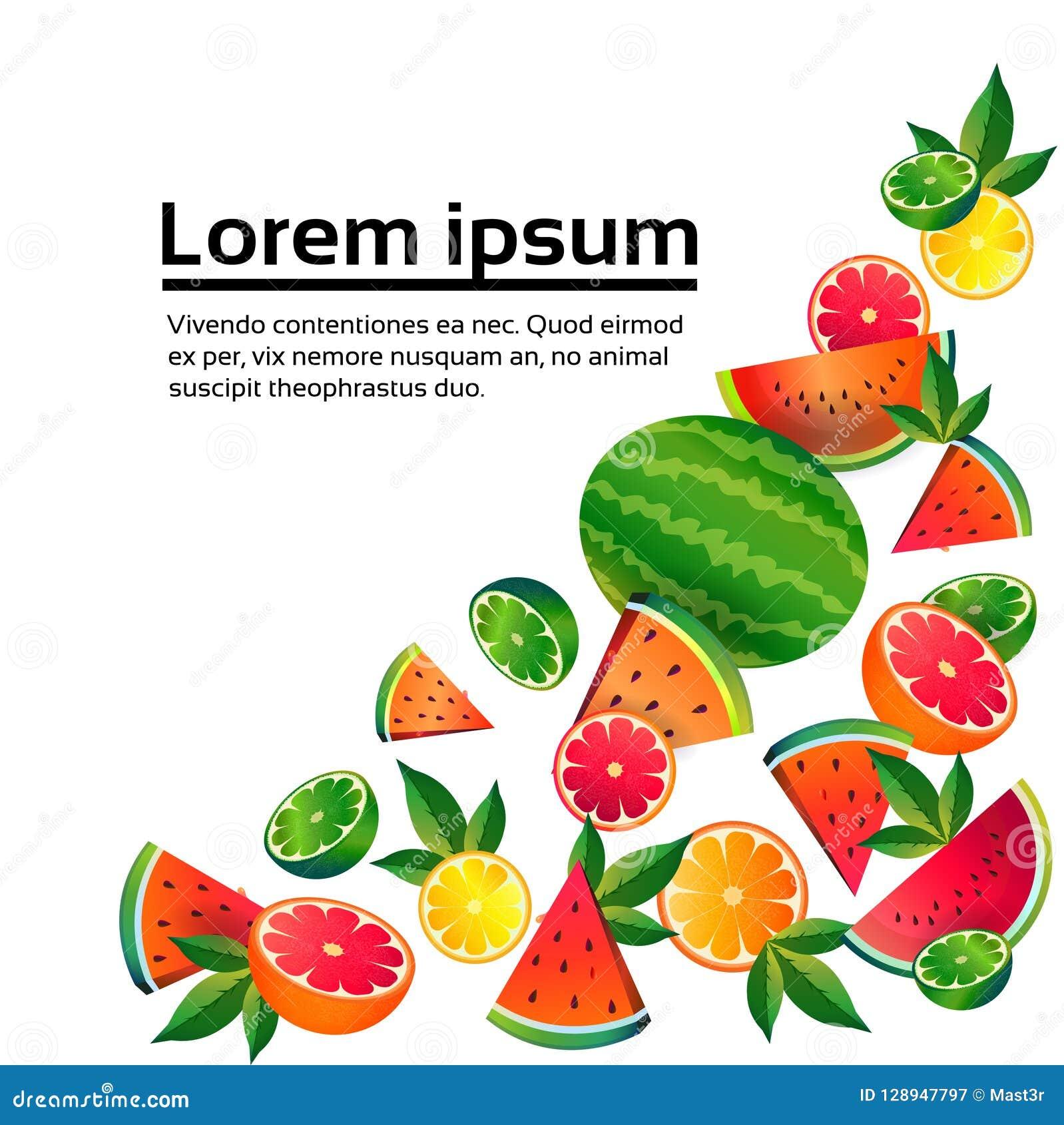 Bantar orange frukt för vattenmelonlimefrukt på vit bakgrund, sund livsstil eller begreppet, logoen för nya frukter kopierar utry