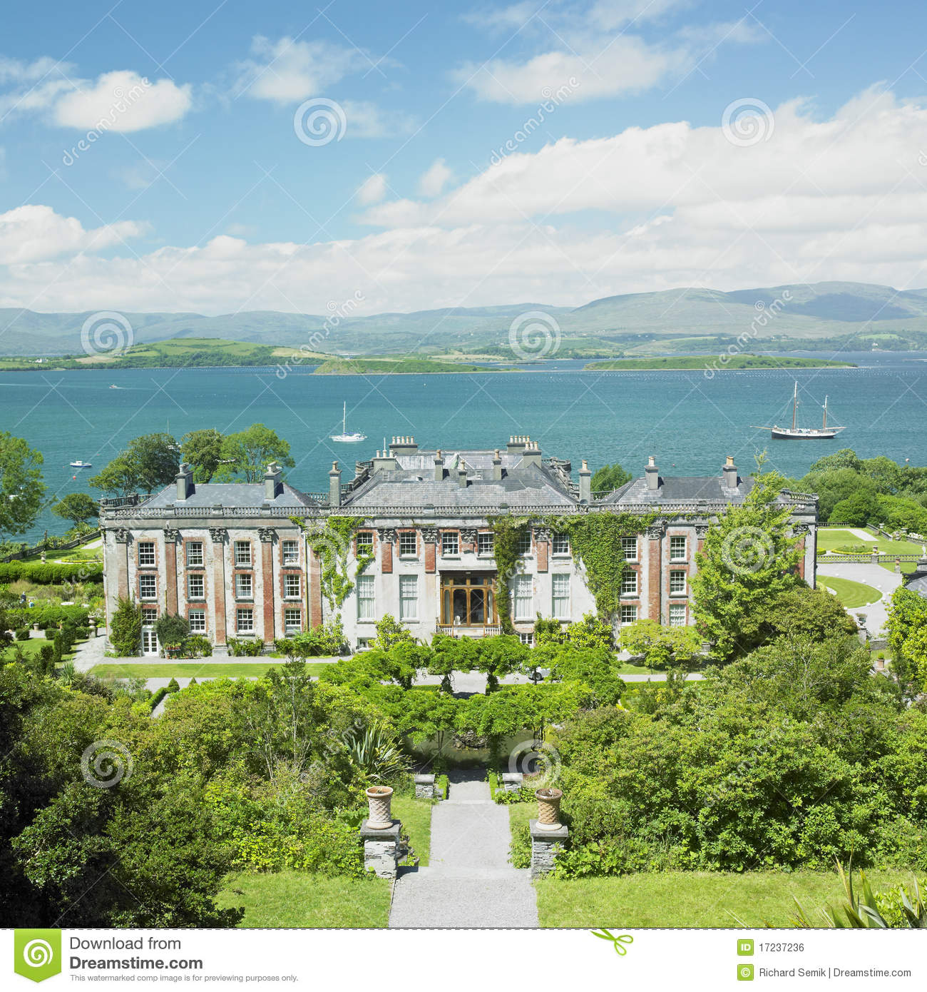 Bantry house stock photo image of palace building for Bantry house