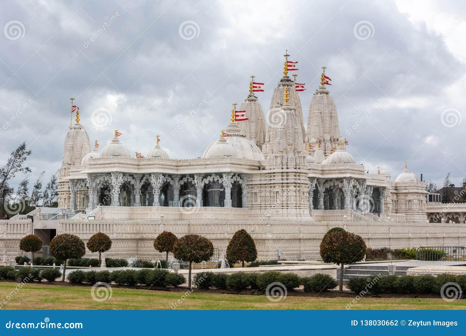BAPS Shri Swaminarayan Mandir för hinduisk tempel i Houston, TX