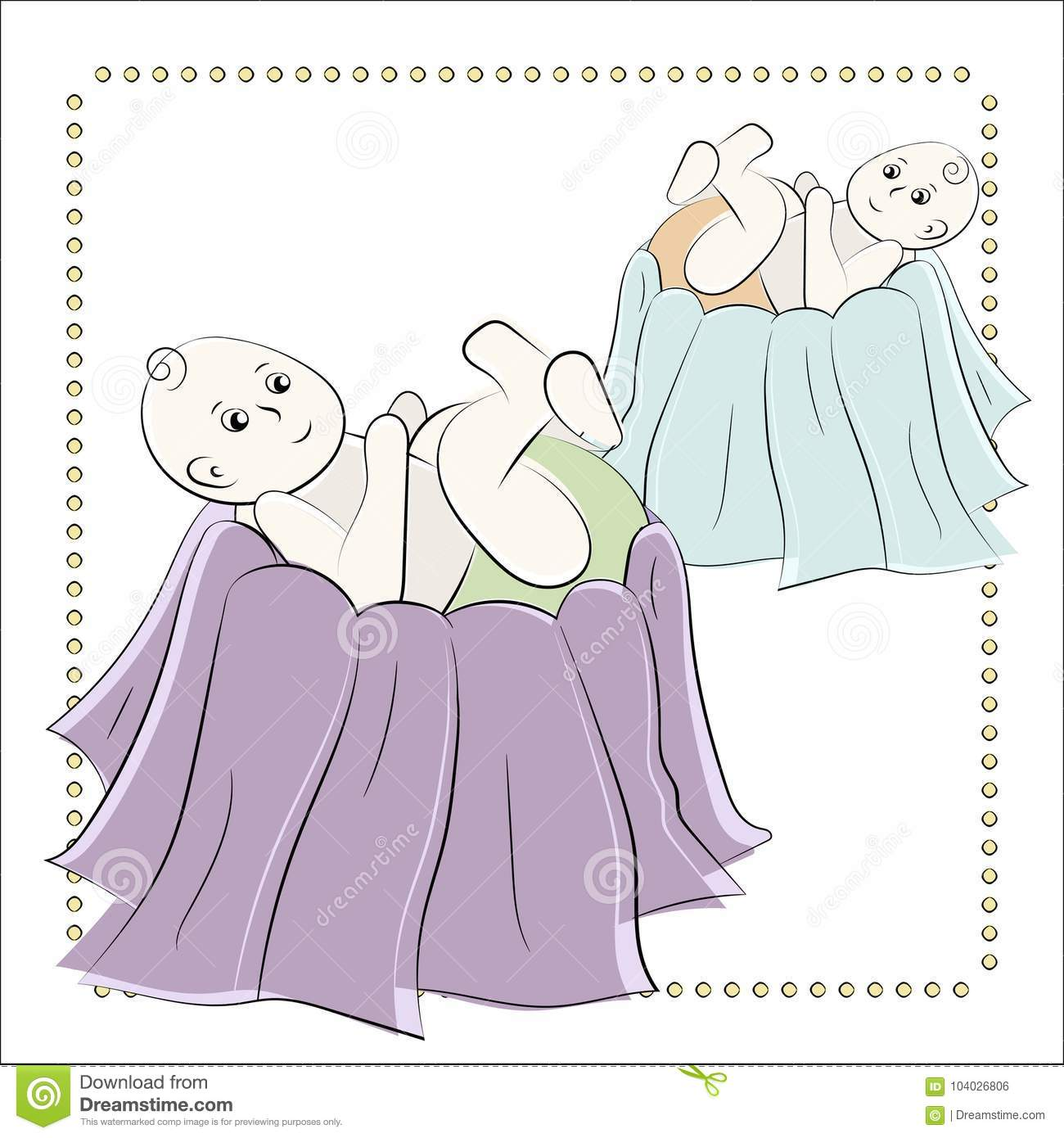 baptism of the child in the church christening vector set of