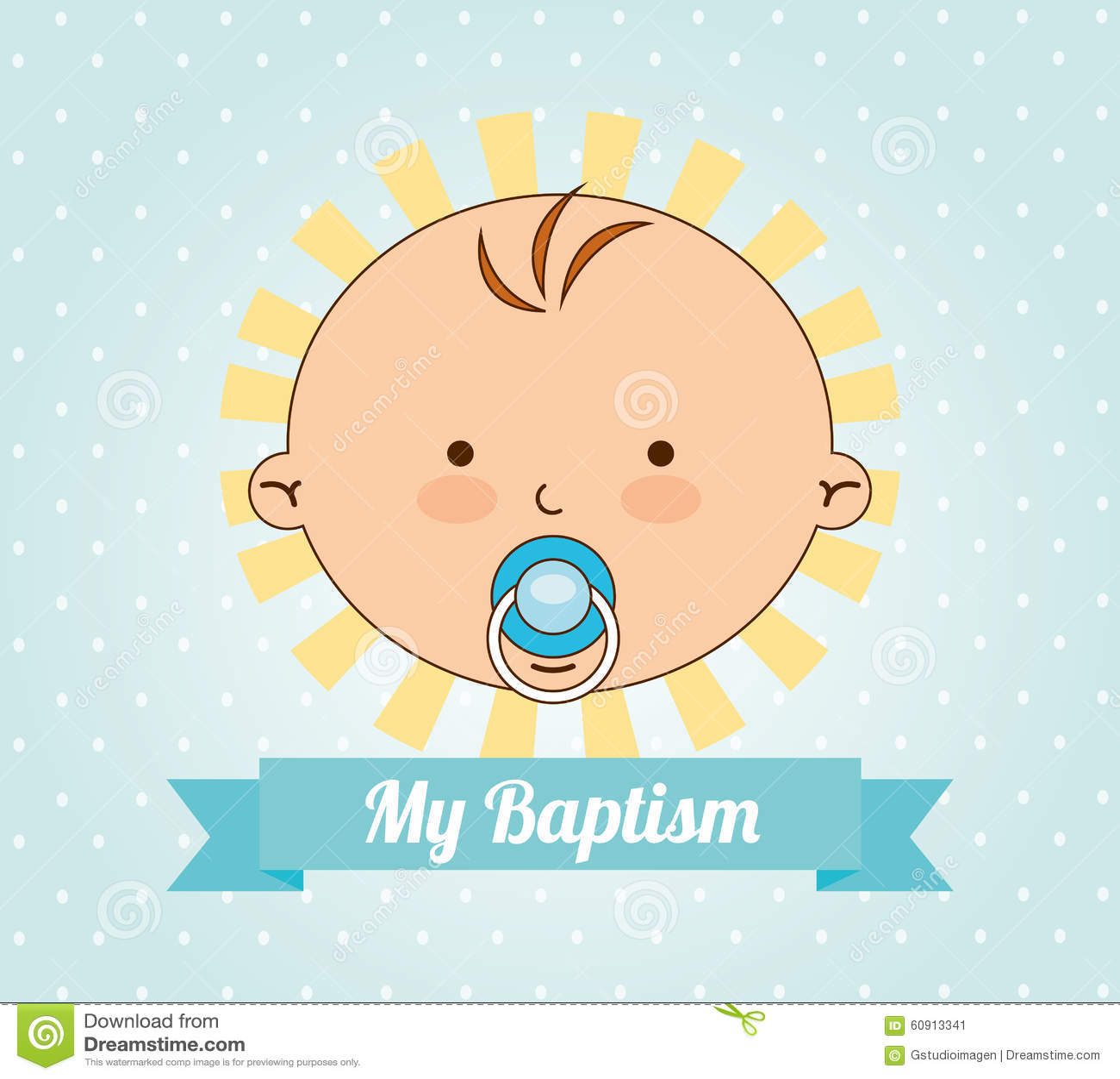 Baptism Invitation Design Stock Vector Illustration Of Religion