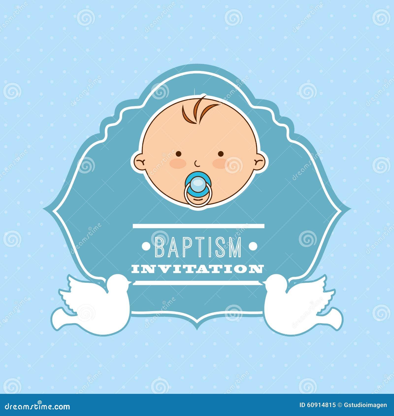 Baptism Invitation Design Stock Vector - Image: 60914815