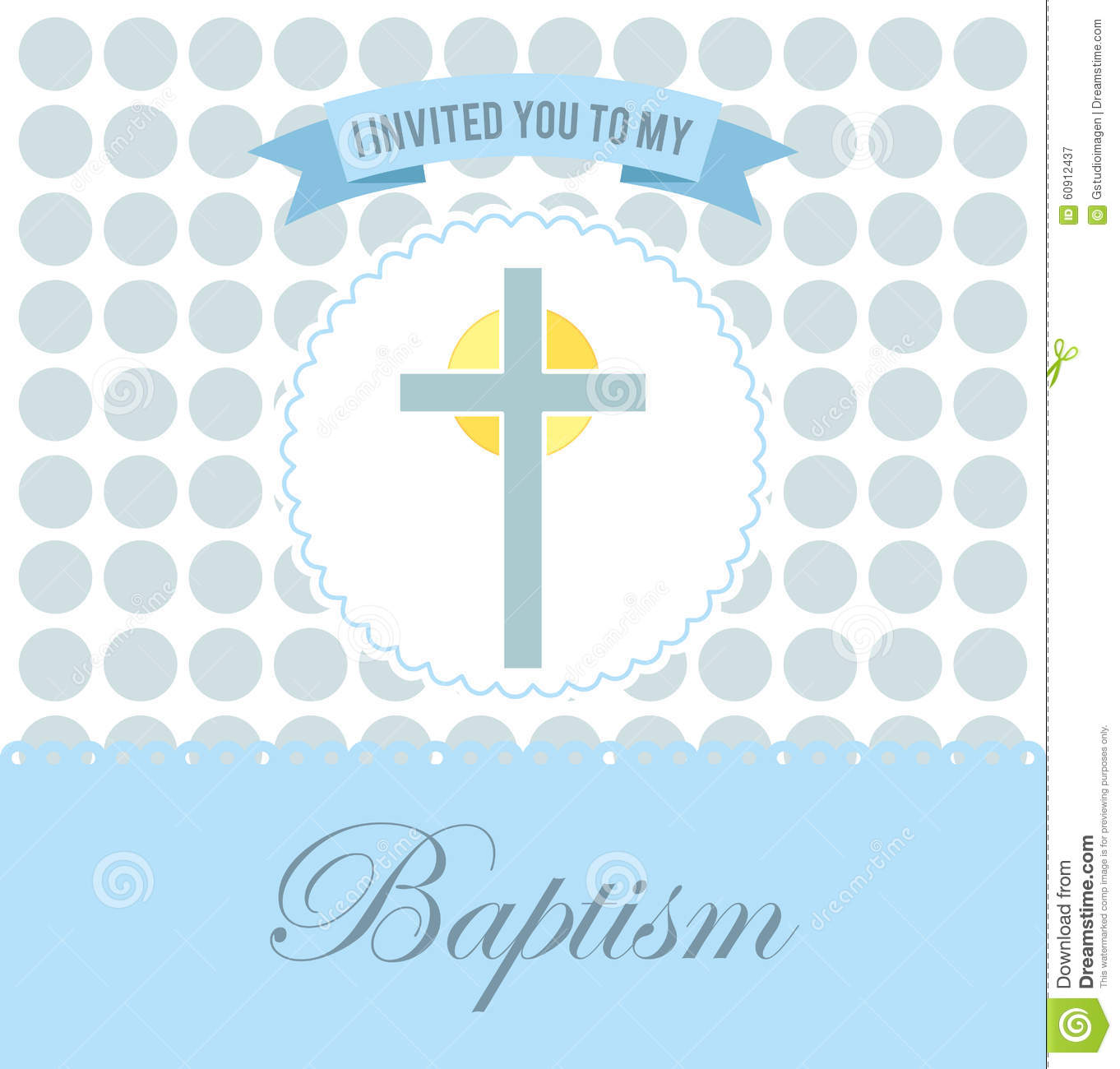 Baptism invitation design stock vector illustration of type 60912437 download baptism invitation design stock vector illustration of type 60912437 stopboris