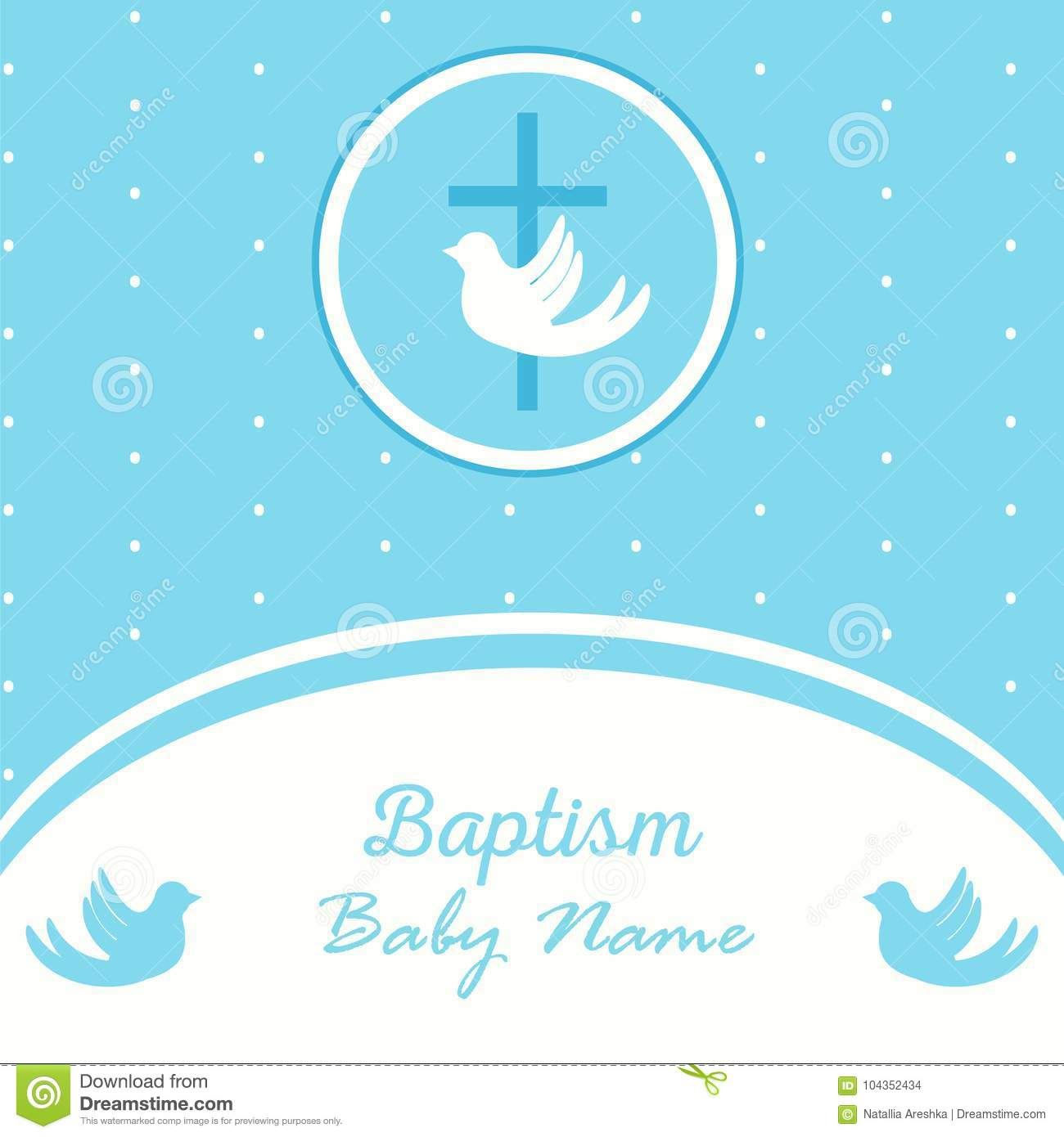 baptism invitation template stock vector illustration of