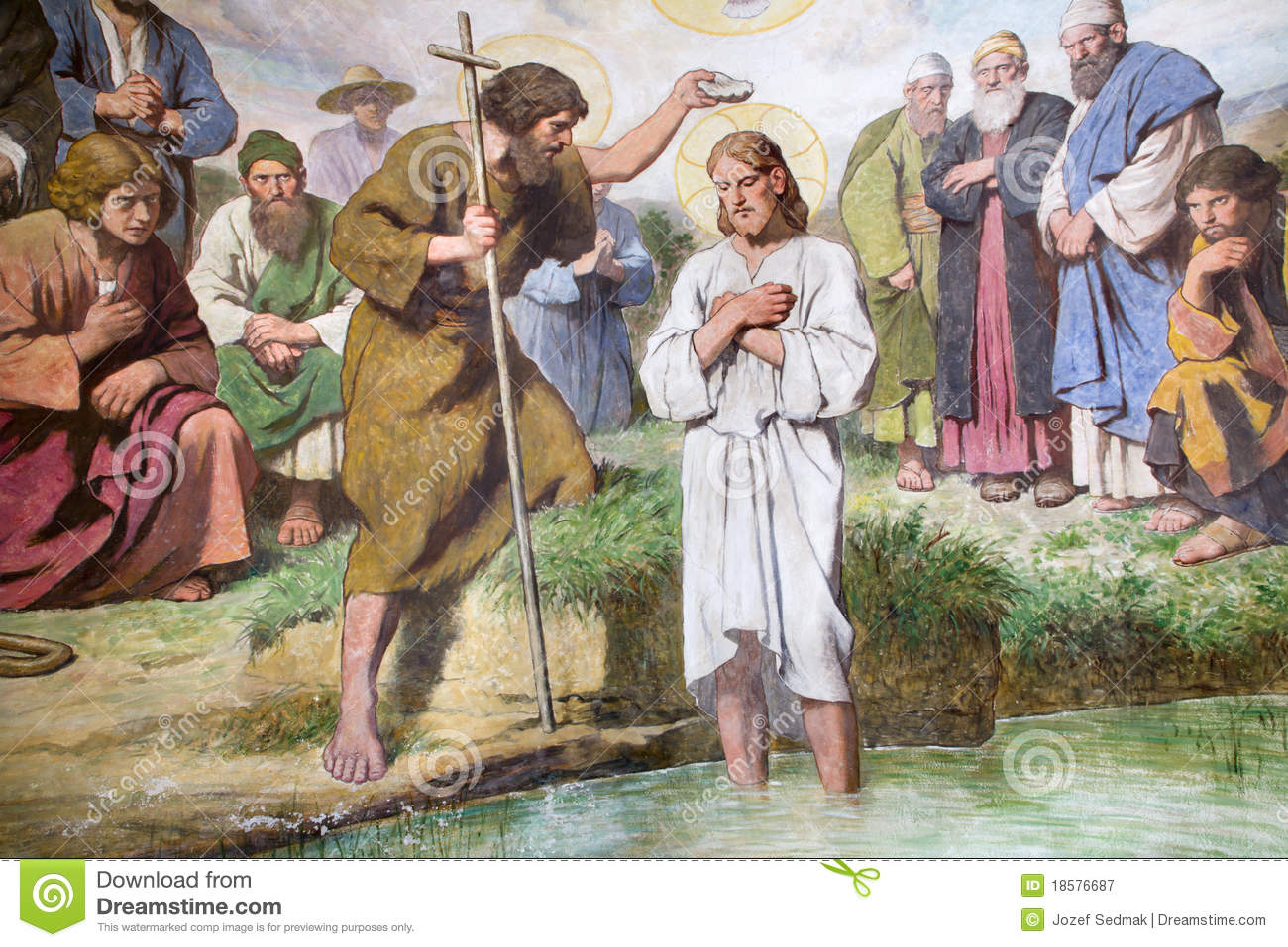 Baptism of Jesus from Vienna church