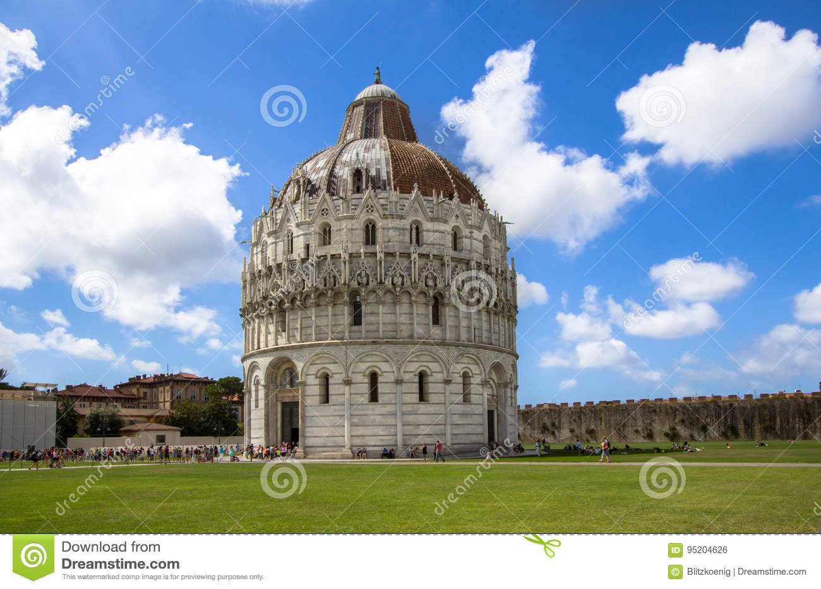 Baptisterio De San Juan Pisa Italia Foto Editorial Imagen De